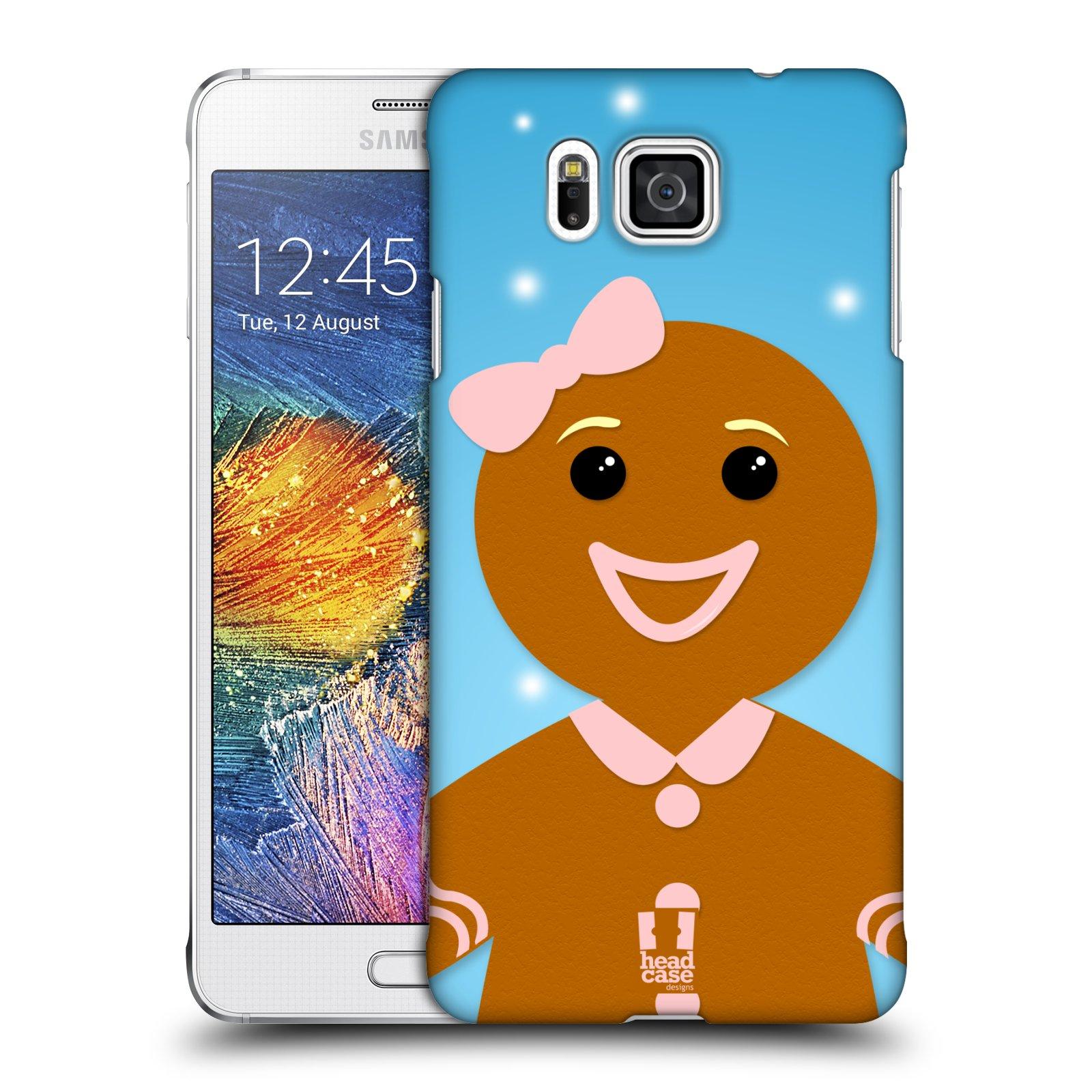 Plastové pouzdro na mobil Samsung Galaxy Alpha HEAD CASE VÁNOCE PERNÍČEK (Kryt či obal na mobilní telefon Samsung Galaxy Alpha SM-G850)