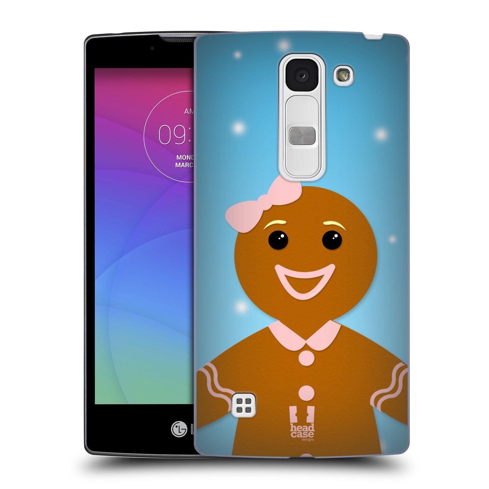 Plastové pouzdro na mobil LG Spirit LTE HEAD CASE VÁNOCE PERNÍČEK (Kryt či obal na mobilní telefon LG Spirit H420 a LG Spirit LTE H440N)