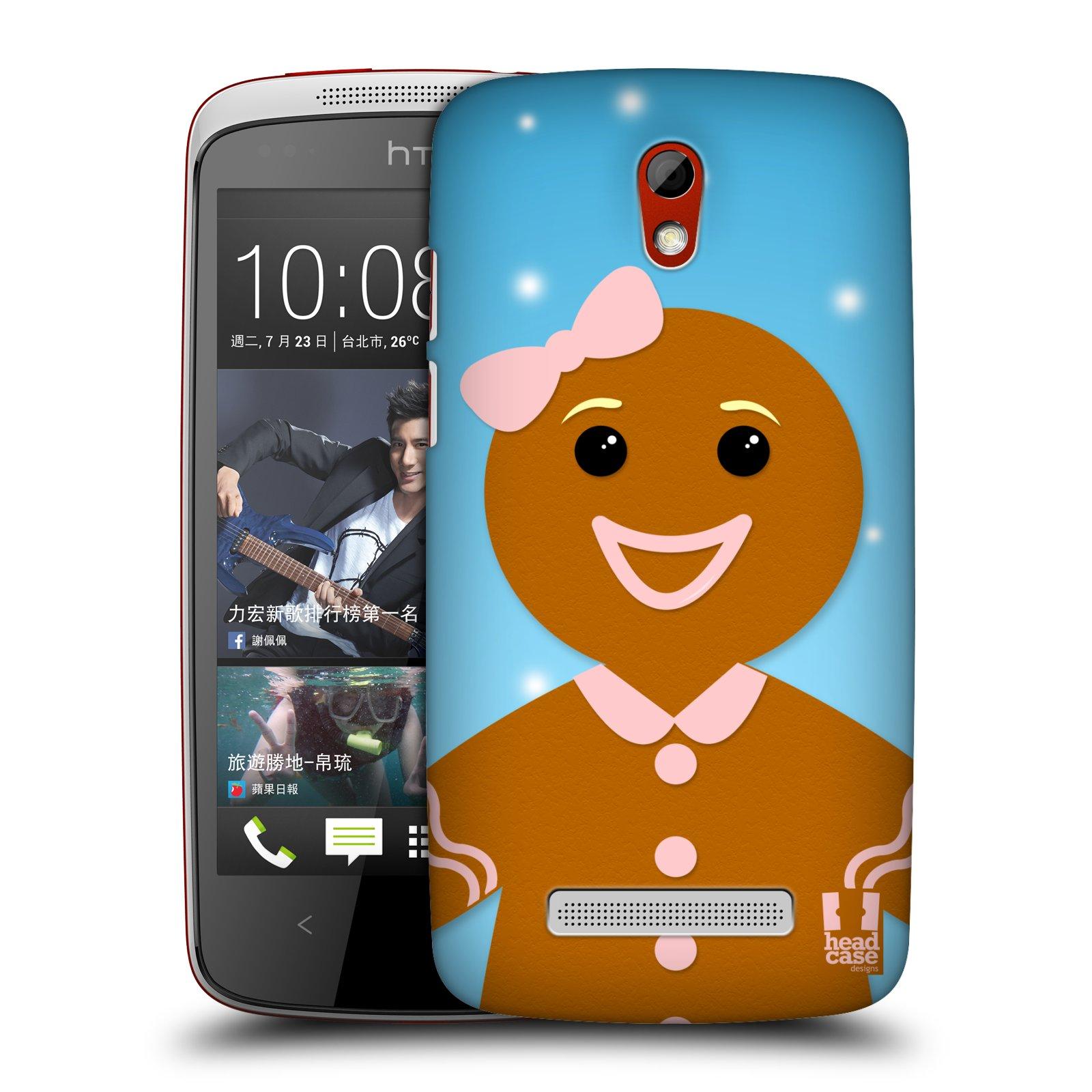 Plastové pouzdro na mobil HTC Desire 500 HEAD CASE VÁNOCE PERNÍČEK (Kryt či obal na mobilní telefon HTC Desire 500)