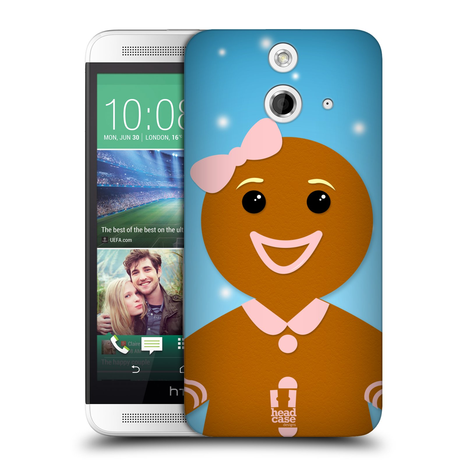 Plastové pouzdro na mobil HTC ONE E8 HEAD CASE VÁNOCE PERNÍČEK (Kryt či obal na mobilní telefon HTC ONE E8)
