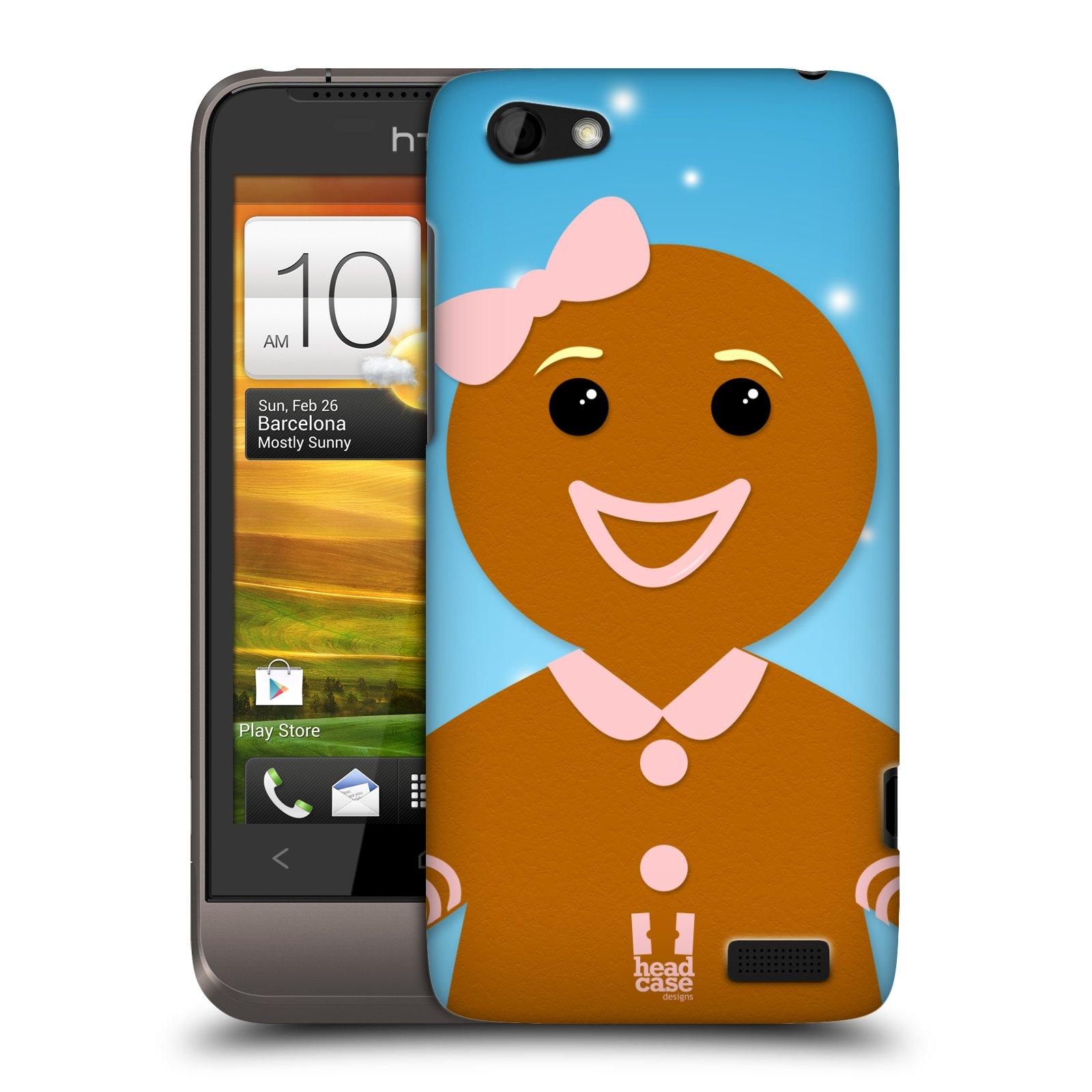 Plastové pouzdro na mobil HTC ONE V HEAD CASE VÁNOCE PERNÍČEK (Kryt či obal na mobilní telefon HTC ONE V)