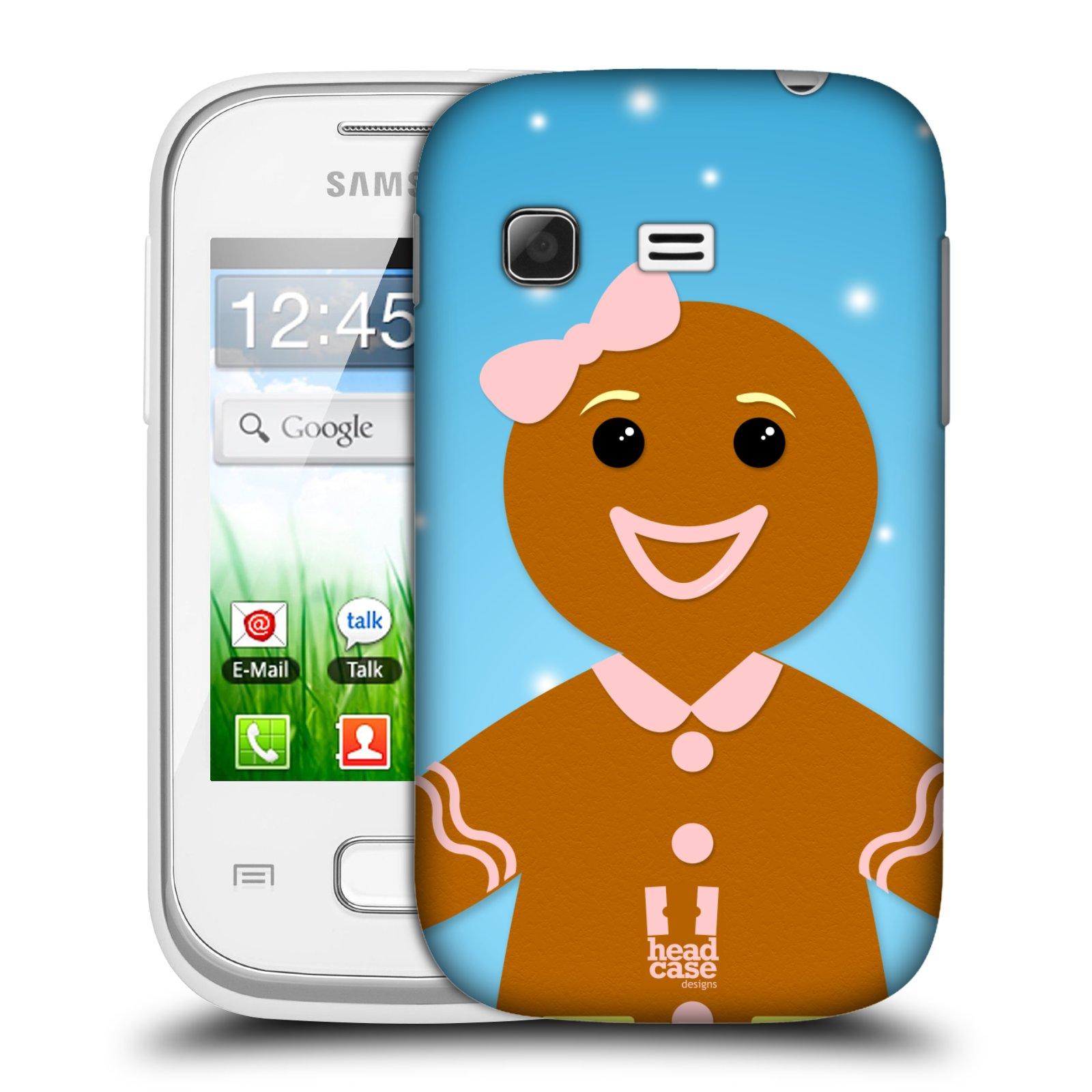 Plastové pouzdro na mobil Samsung Galaxy Pocket HEAD CASE VÁNOCE PERNÍČEK (Kryt či obal na mobilní telefon Samsung Galaxy Pocket GT-S5300)