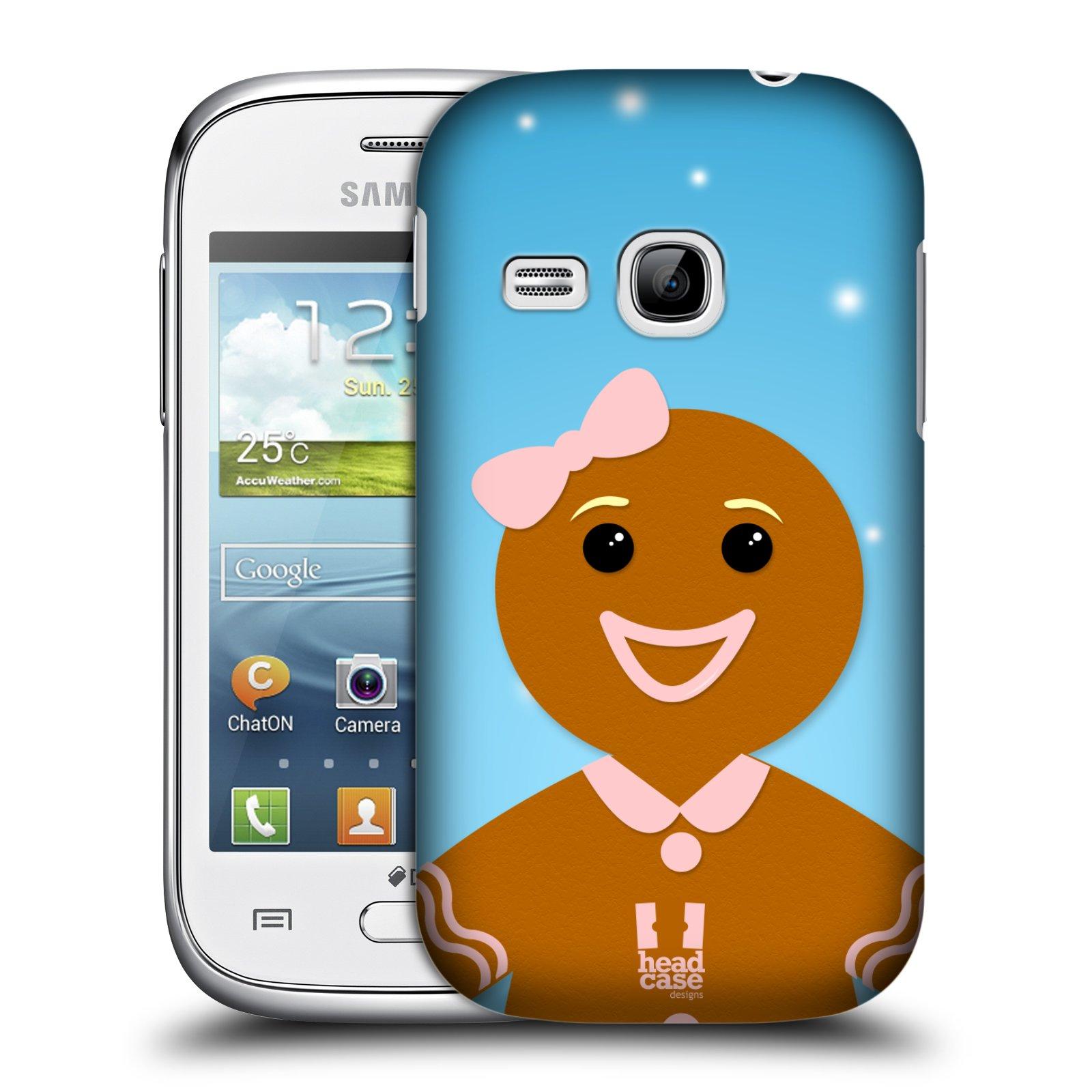 Plastové pouzdro na mobil Samsung Galaxy Young HEAD CASE VÁNOCE PERNÍČEK (Kryt či obal na mobilní telefon Samsung Galaxy Young GT-S6310)