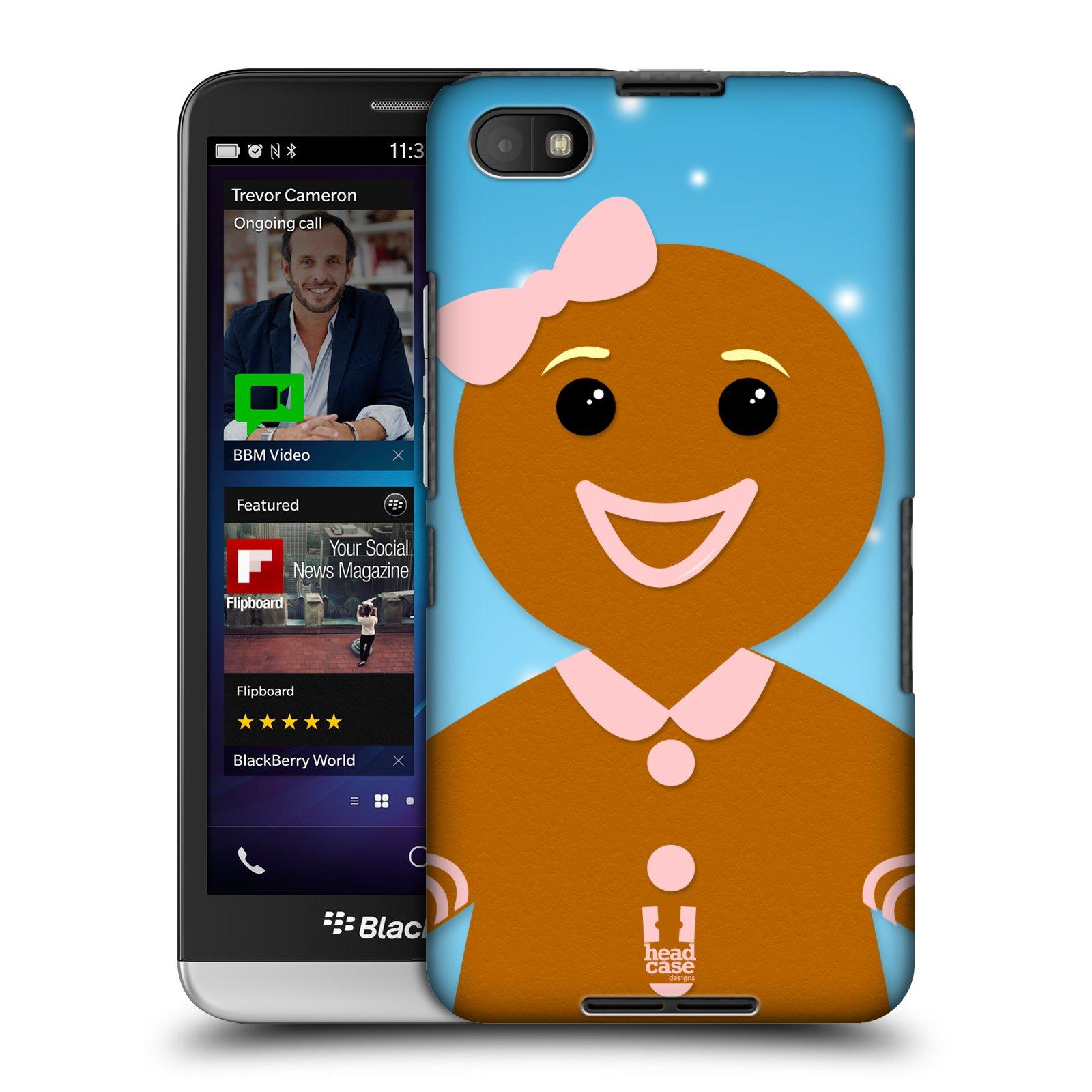 Plastové pouzdro na mobil Blackberry Z30 HEAD CASE VÁNOCE PERNÍČEK (Kryt či obal na mobilní telefon Blackberry Z30)