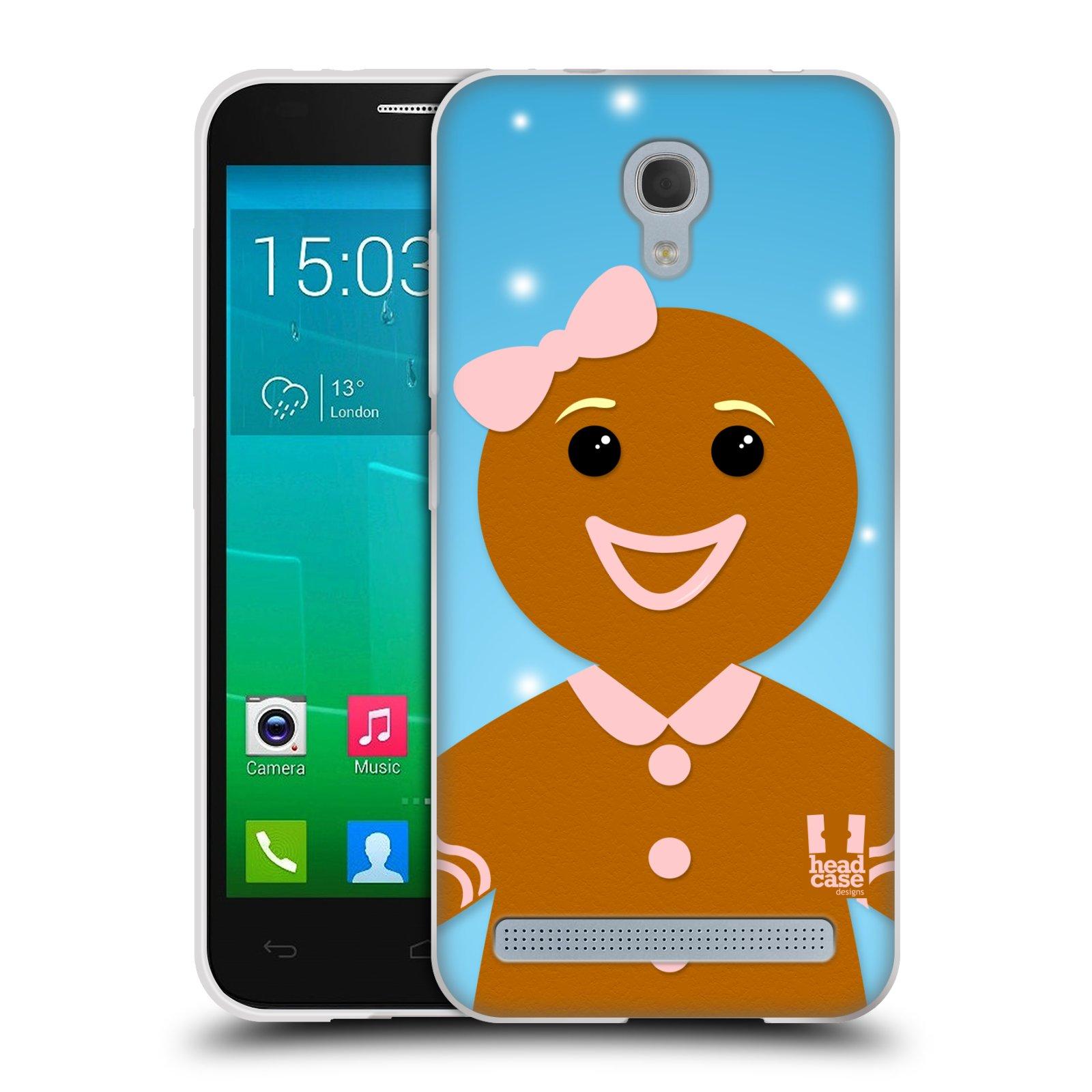 Silikonové pouzdro na mobil Alcatel One Touch Idol 2 Mini S 6036Y HEAD CASE VÁNOCE PERNÍČEK (Silikonový kryt či obal na mobilní telefon Alcatel Idol 2 Mini S OT-6036Y)