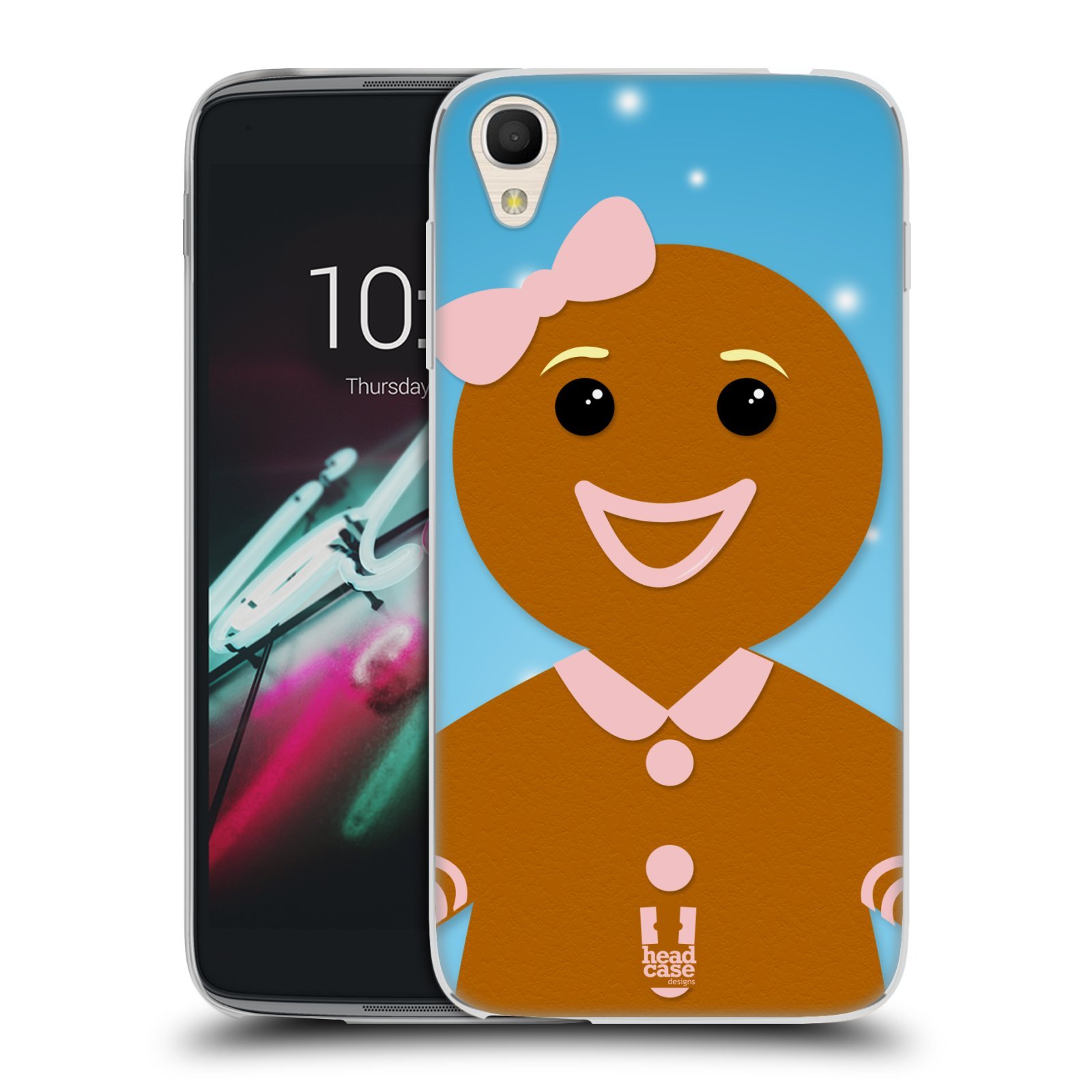 """Silikonové pouzdro na mobil Alcatel One Touch 6039Y Idol 3 HEAD CASE VÁNOCE PERNÍČEK (Silikonový kryt či obal na mobilní telefon Alcatel One Touch Idol 3 OT-6039Y s 4,7"""" displejem)"""