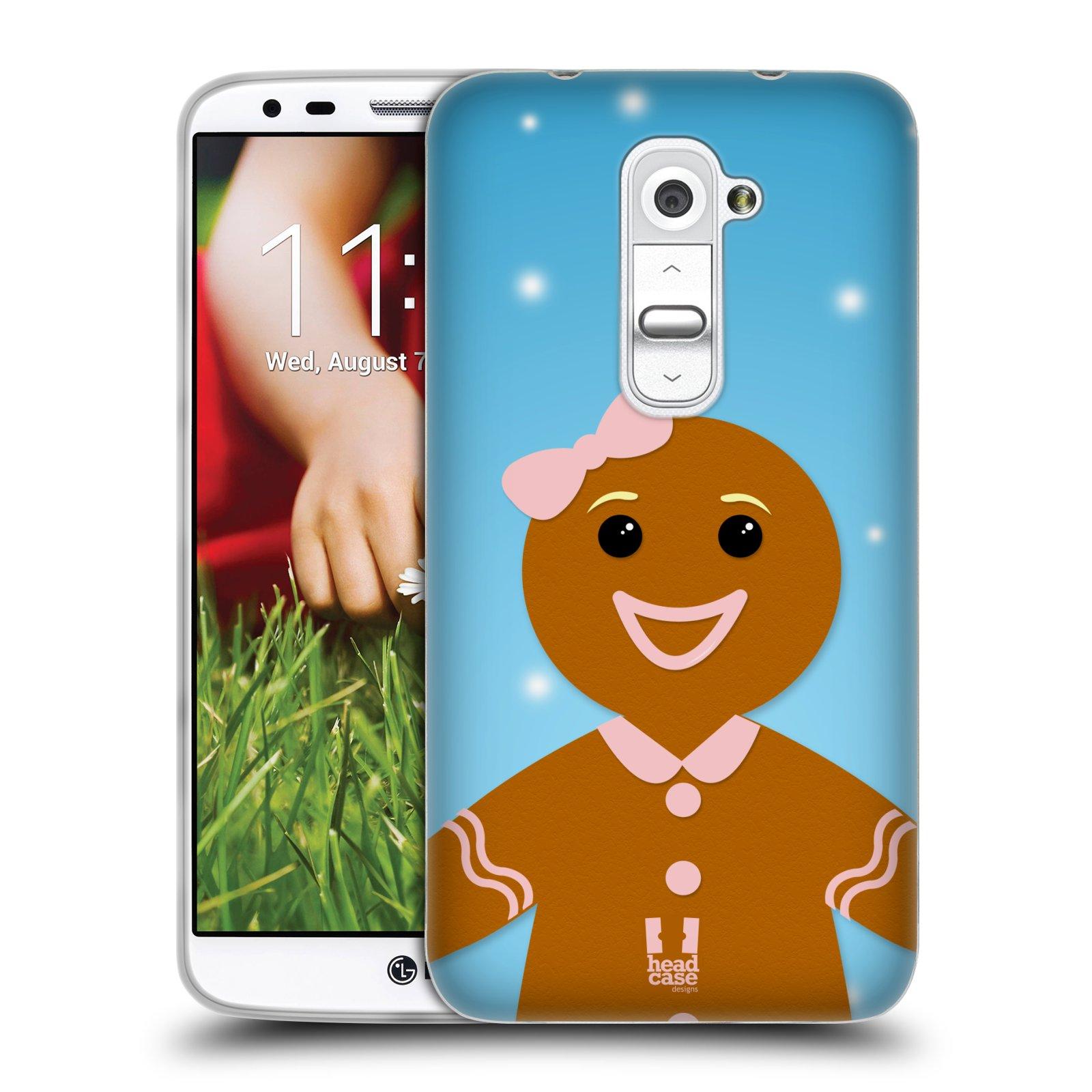 Silikonové pouzdro na mobil LG G2 HEAD CASE VÁNOCE PERNÍČEK (Silikonový kryt či obal na mobilní telefon LG G2 D802)