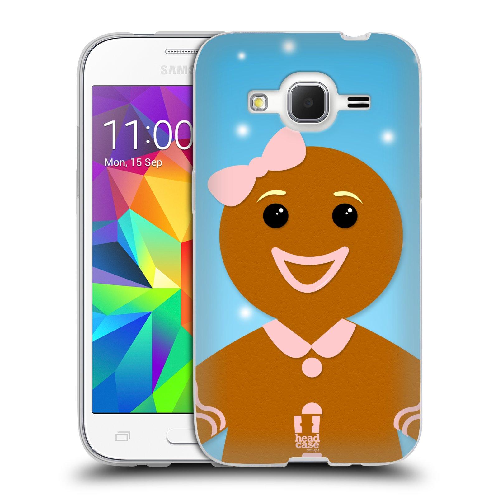 Silikonové pouzdro na mobil Samsung Galaxy Core Prime LTE HEAD CASE VÁNOCE PERNÍČEK (Silikonový kryt či obal na mobilní telefon Samsung Galaxy Core Prime LTE SM-G360)