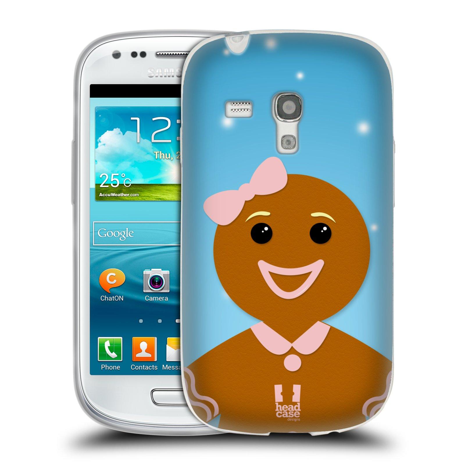 Silikonové pouzdro na mobil Samsung Galaxy S III Mini HEAD CASE VÁNOCE PERNÍČEK (Silikonový kryt či obal na mobilní telefon Samsung Galaxy S III Mini GT-i8190)