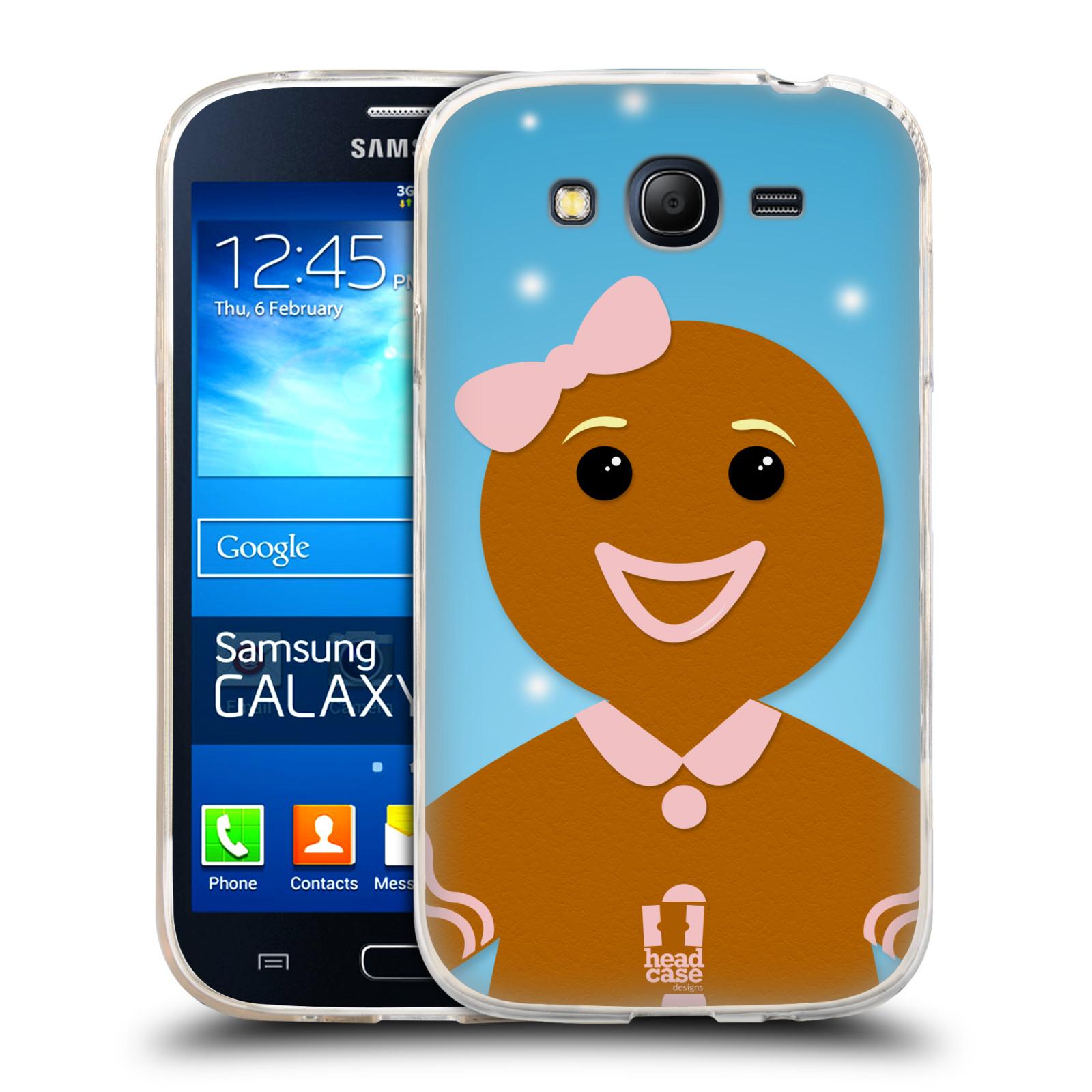 Silikonové pouzdro na mobil Samsung Galaxy Grand Neo HEAD CASE VÁNOCE PERNÍČEK (Silikonový kryt či obal na mobilní telefon Samsung Galaxy Grand Neo GT-I9060)