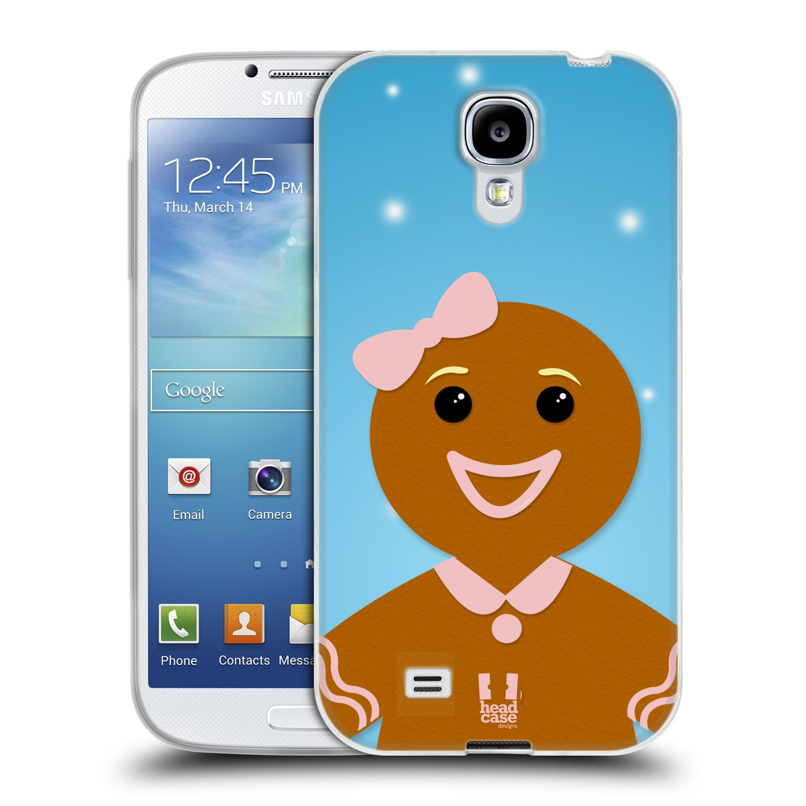Silikonové pouzdro na mobil Samsung Galaxy S4 HEAD CASE VÁNOCE PERNÍČEK (Silikonový kryt či obal na mobilní telefon Samsung Galaxy S4 GT-i9505 / i9500)