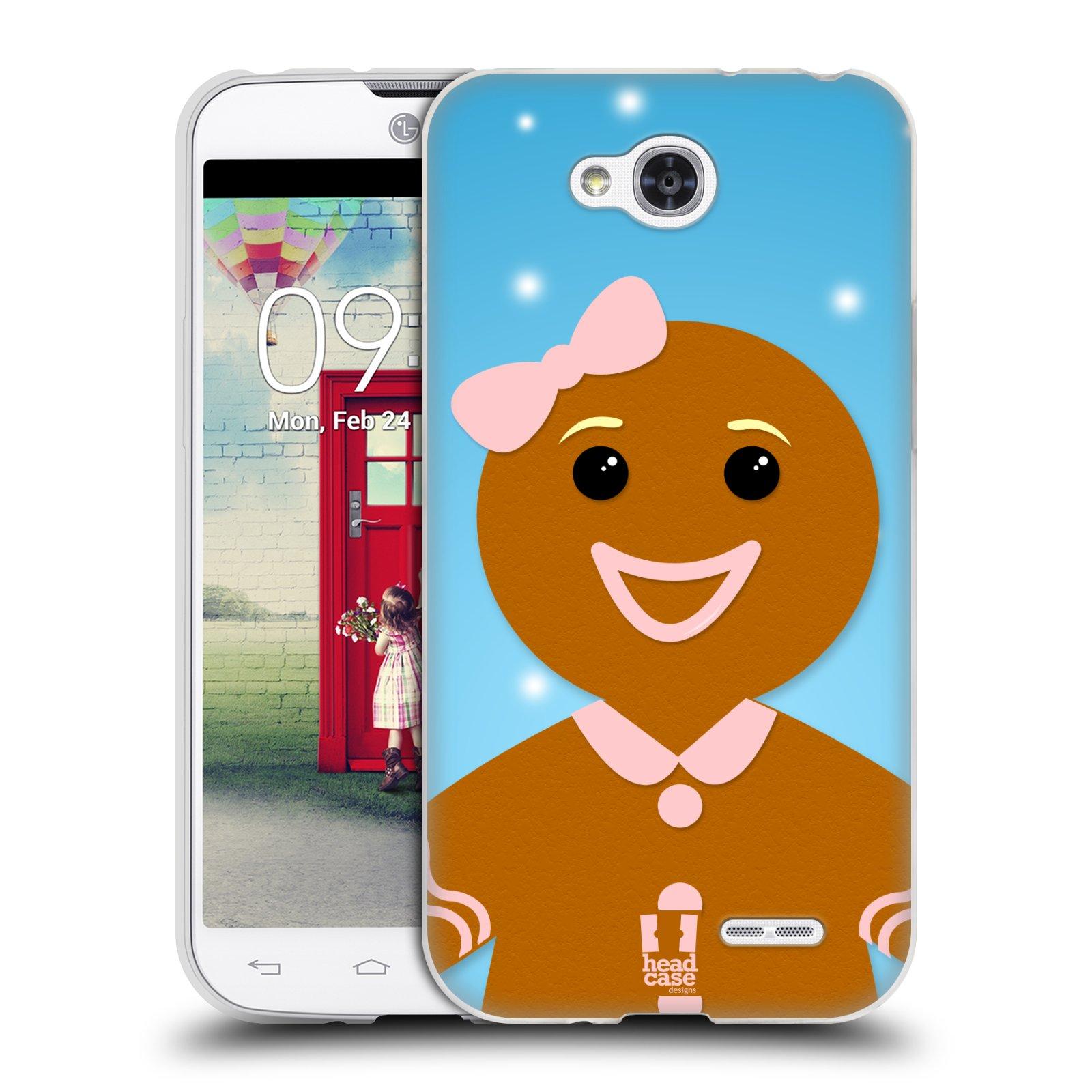 Silikonové pouzdro na mobil LG L90 HEAD CASE VÁNOCE PERNÍČEK (Silikonový kryt či obal na mobilní telefon LG L90 D405n)