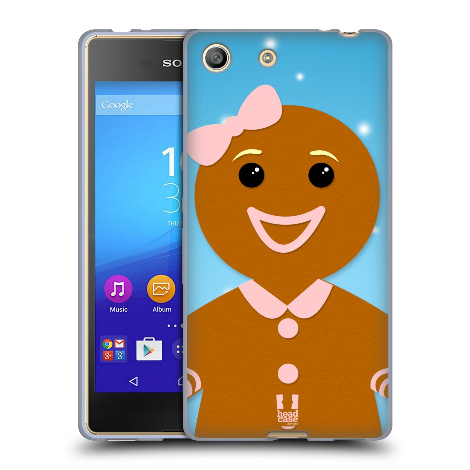 Silikonové pouzdro na mobil Sony Xperia M5 HEAD CASE VÁNOCE PERNÍČEK (Silikonový kryt či obal na mobilní telefon Sony Xperia M5 Dual SIM / Aqua)