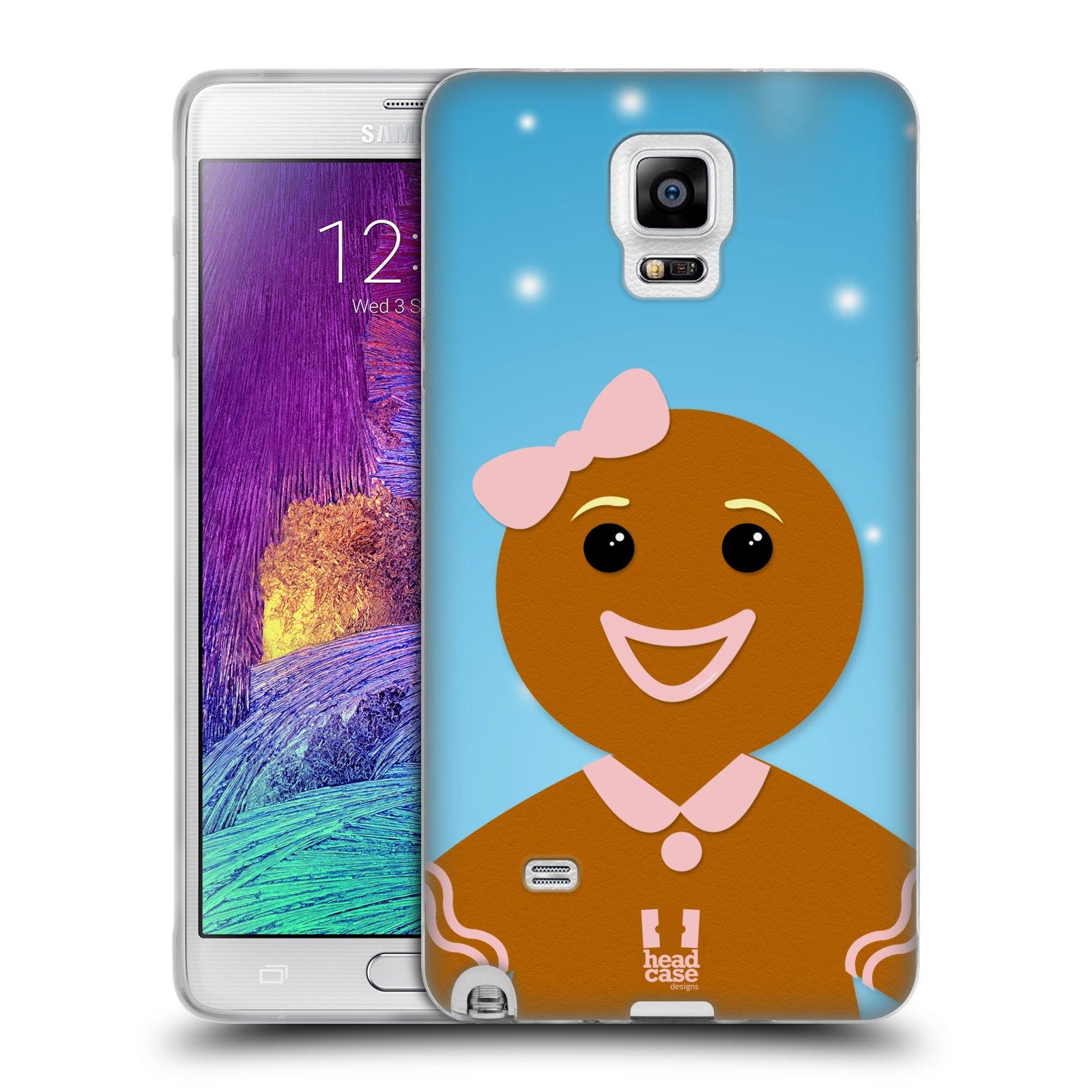 Silikonové pouzdro na mobil Samsung Galaxy Note 4 HEAD CASE VÁNOCE PERNÍČEK (Silikonový kryt či obal na mobilní telefon Samsung Galaxy Note 4 SM-N910F)