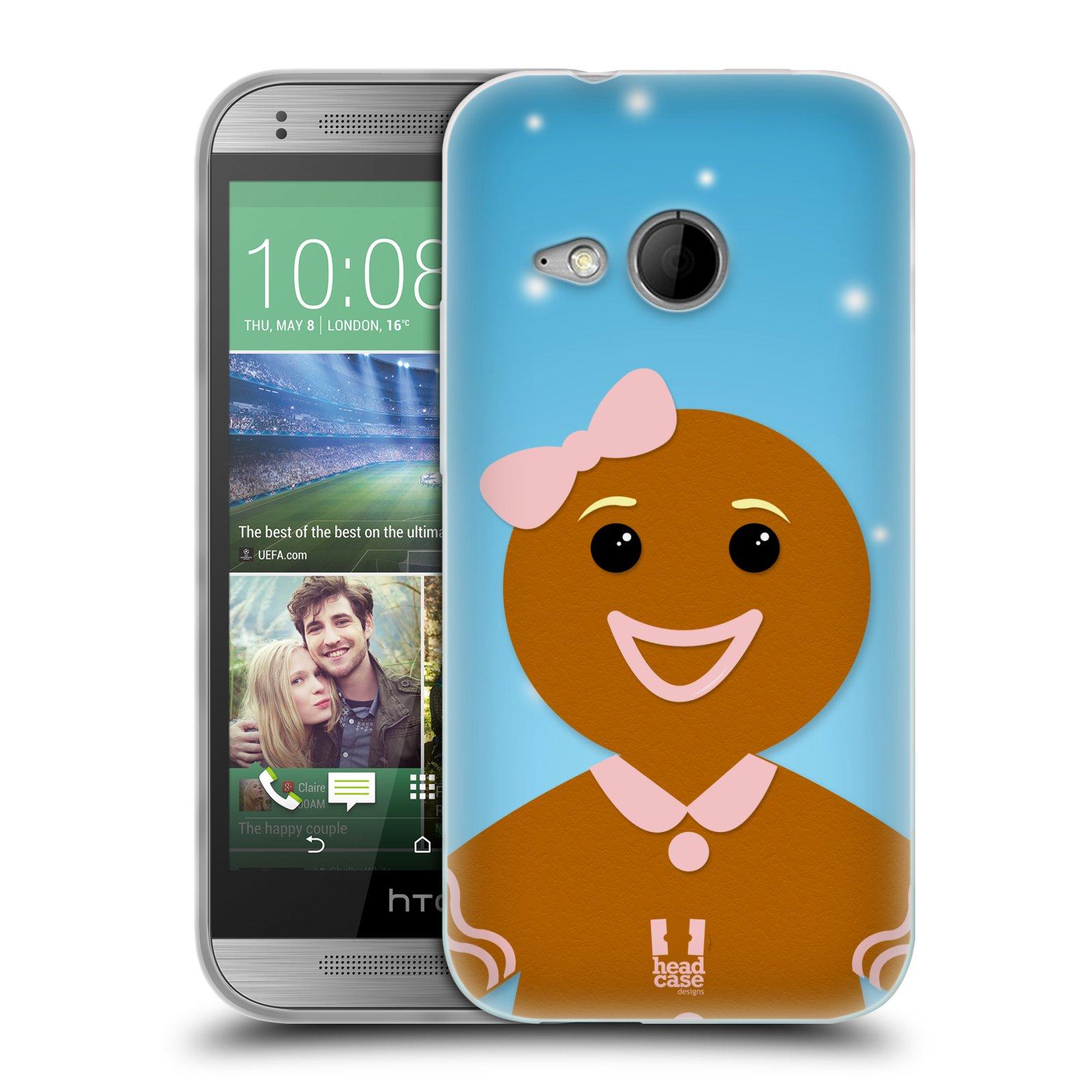 Silikonové pouzdro na mobil HTC ONE Mini 2 HEAD CASE VÁNOCE PERNÍČEK (Silikonový kryt či obal na mobilní telefon HTC ONE Mini 2)