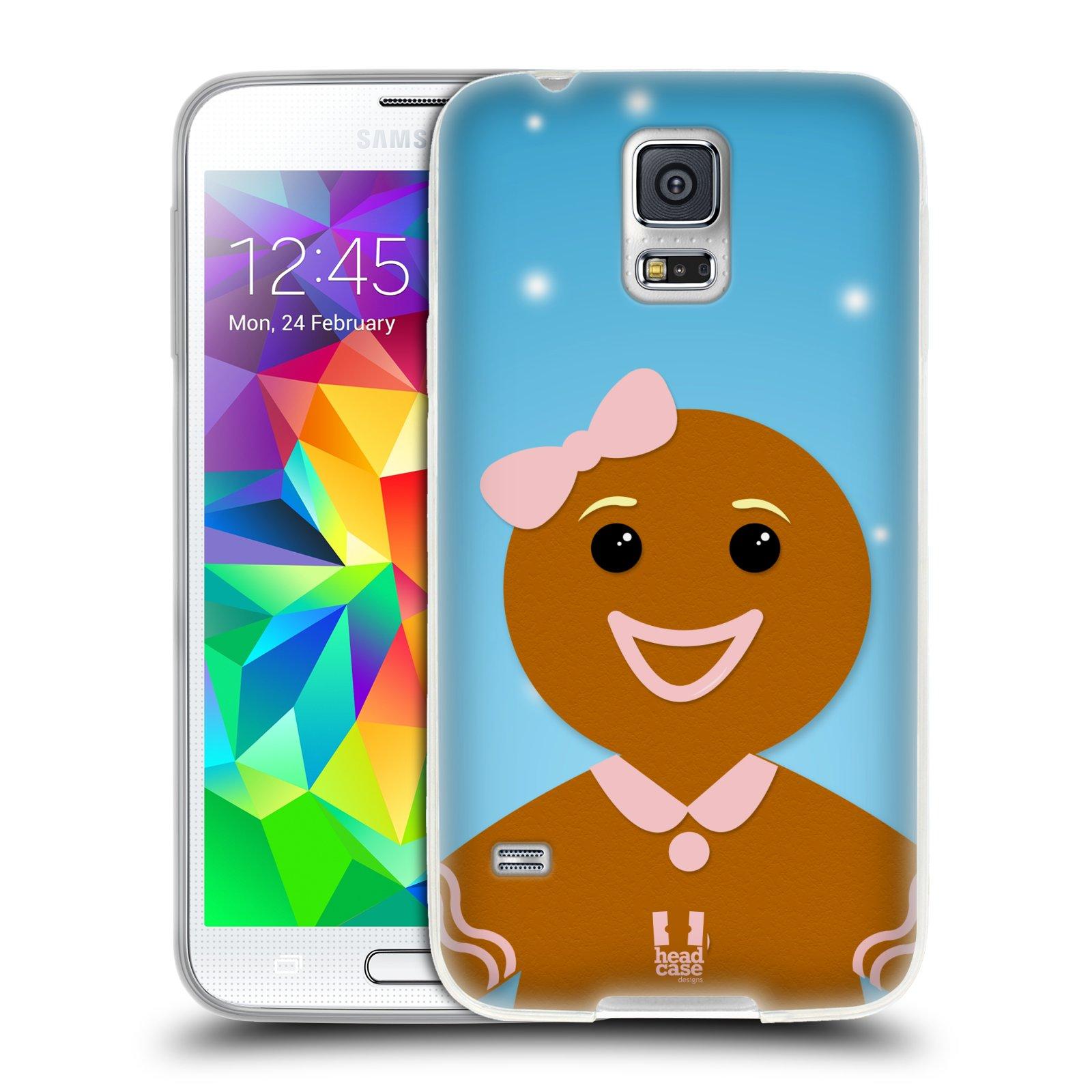 Silikonové pouzdro na mobil Samsung Galaxy S5 HEAD CASE VÁNOCE PERNÍČEK (Silikonový kryt či obal na mobilní telefon Samsung Galaxy S5 SM-G900F)