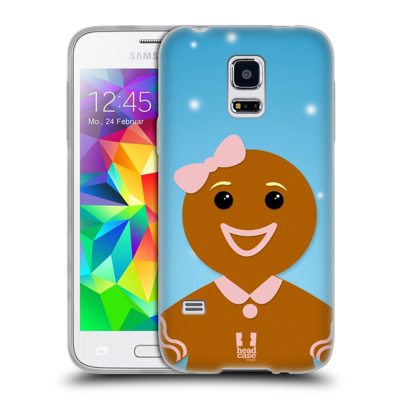 Silikonové pouzdro na mobil Samsung Galaxy S5 Mini HEAD CASE VÁNOCE PERNÍČEK (Silikonový kryt či obal na mobilní telefon Samsung Galaxy S5 Mini SM-G800F)