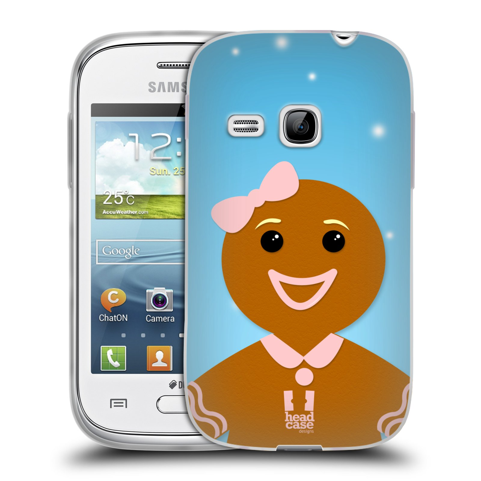 Silikonové pouzdro na mobil Samsung Galaxy Young HEAD CASE VÁNOCE PERNÍČEK (Silikonový kryt či obal na mobilní telefon Samsung Galaxy Young GT-S6310)