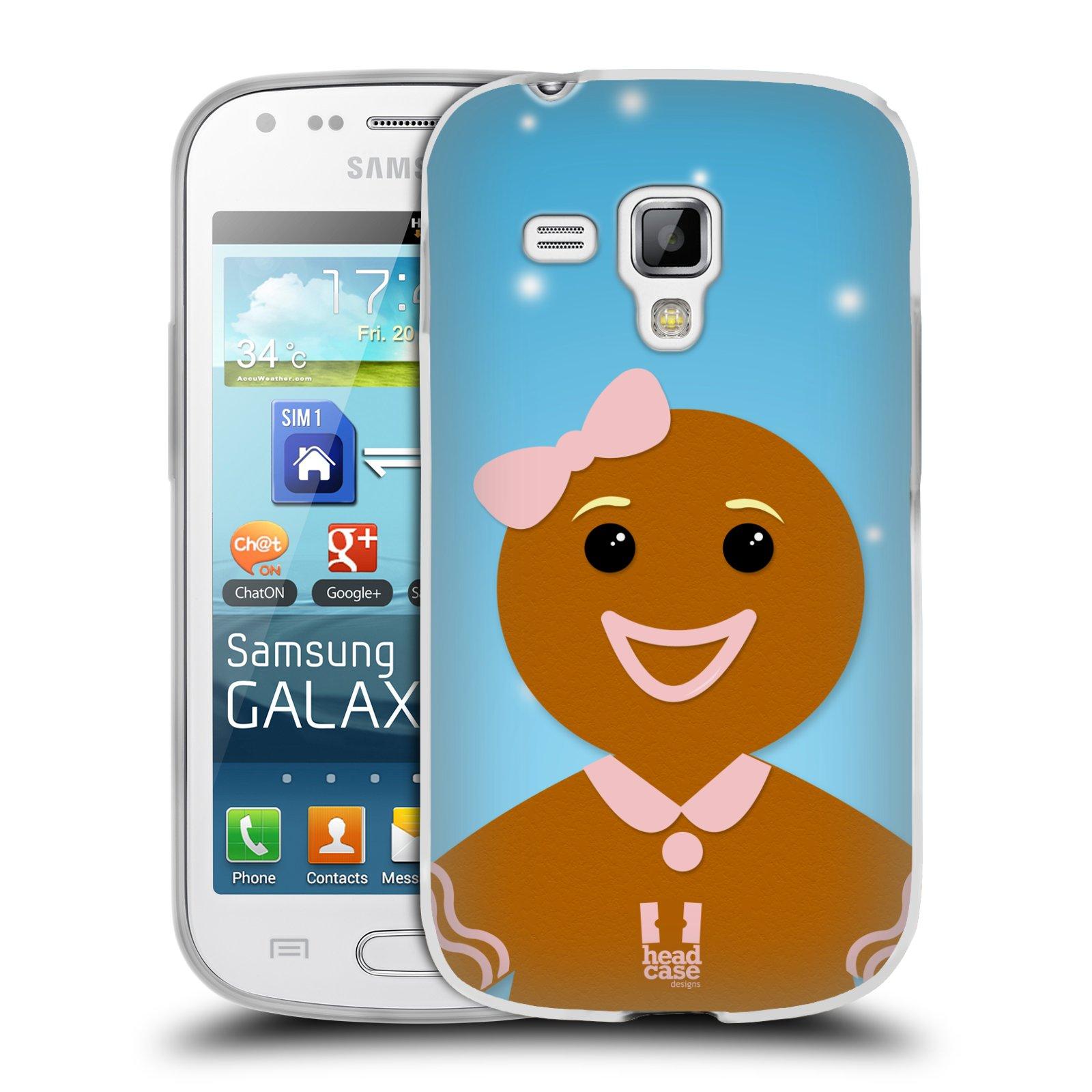 Silikonové pouzdro na mobil Samsung Galaxy Trend HEAD CASE VÁNOCE PERNÍČEK (Silikonový kryt či obal na mobilní telefon Samsung Galaxy Trend GT-S7560)