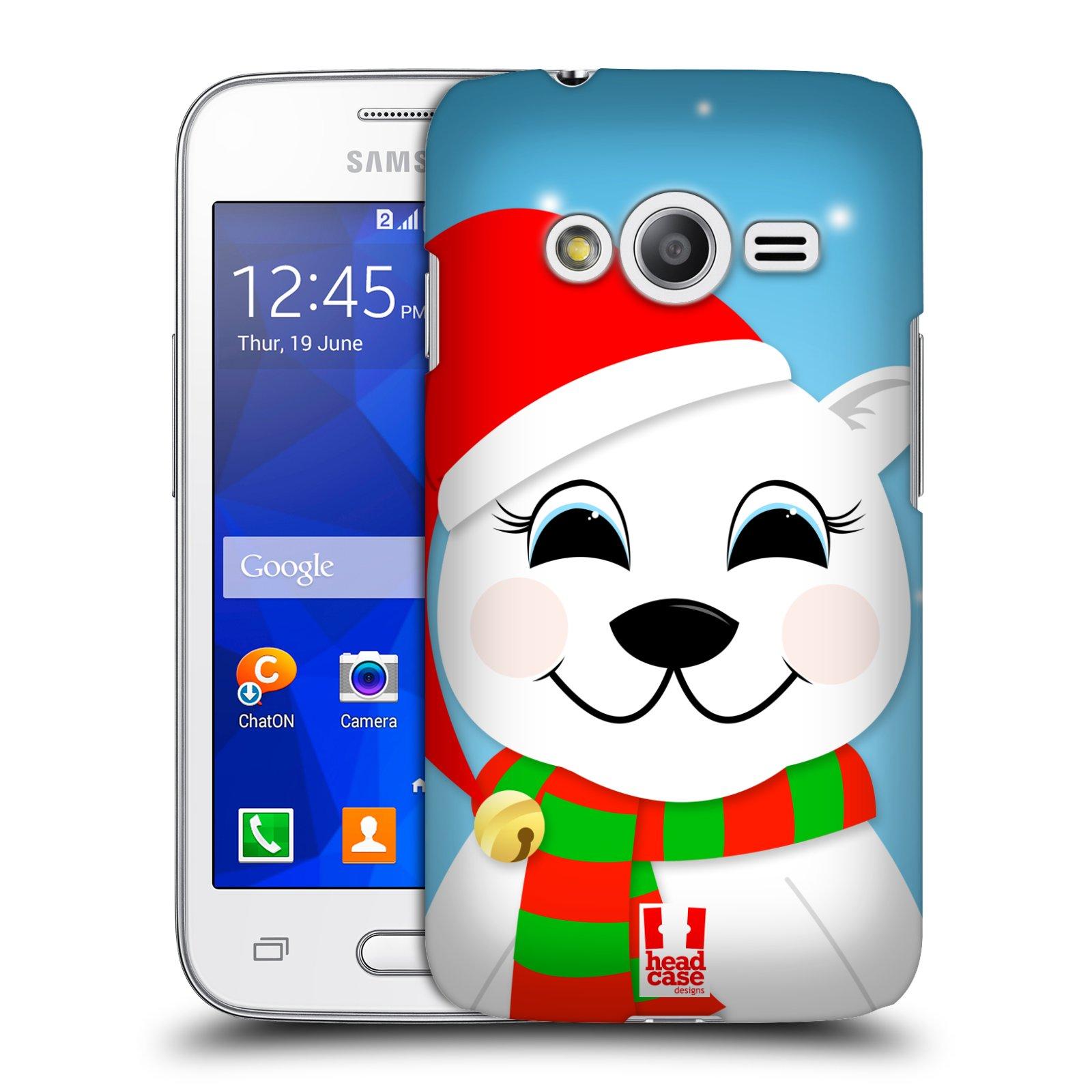 Plastové pouzdro na mobil Samsung Galaxy Trend 2 Lite HEAD CASE VÁNOCE POLÁRNÍ MÉĎA (Kryt či obal na mobilní telefon Samsung Galaxy Trend 2 Lite SM-G318)