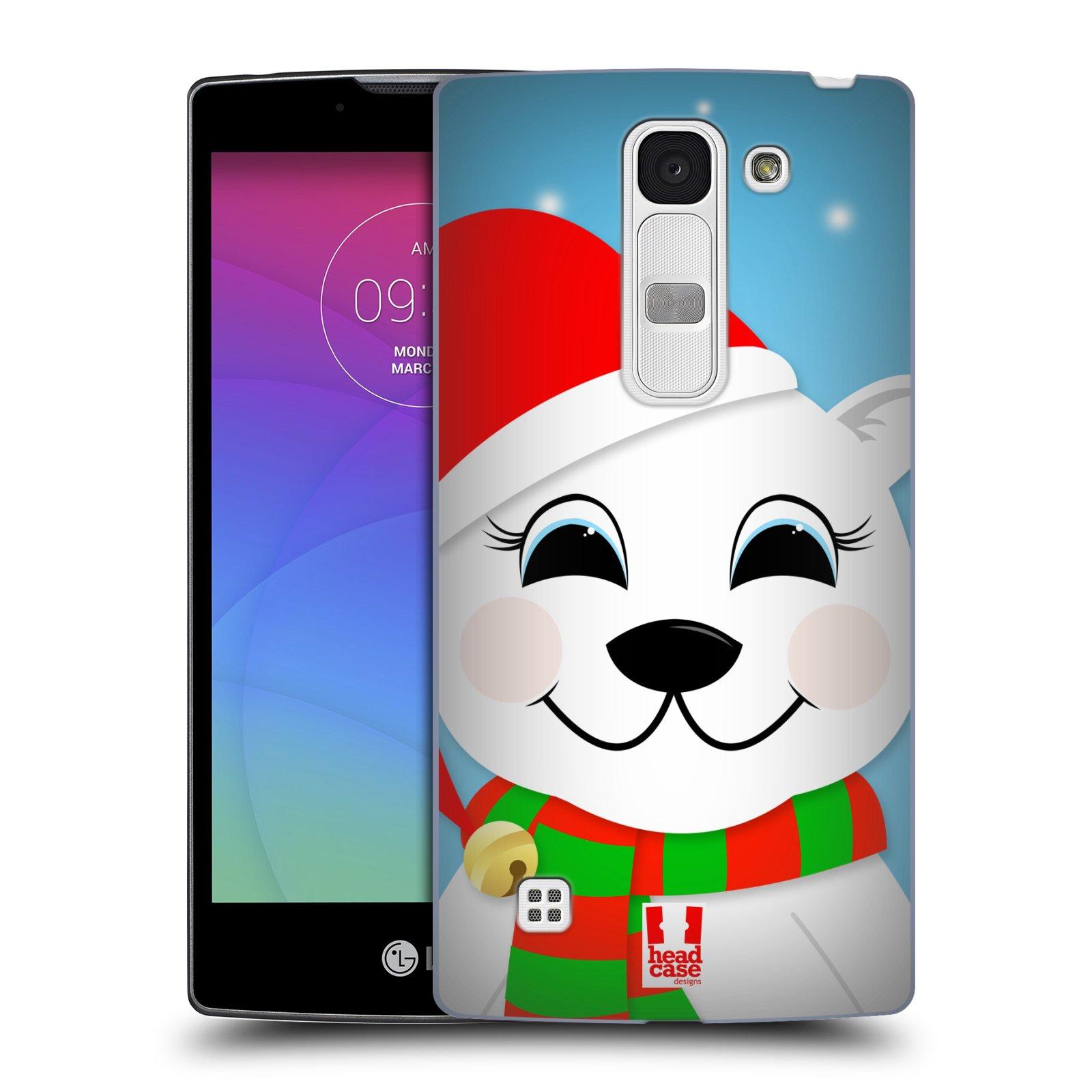 Plastové pouzdro na mobil LG Spirit LTE HEAD CASE VÁNOCE POLÁRNÍ MÉĎA (Kryt či obal na mobilní telefon LG Spirit H420 a LG Spirit LTE H440N)