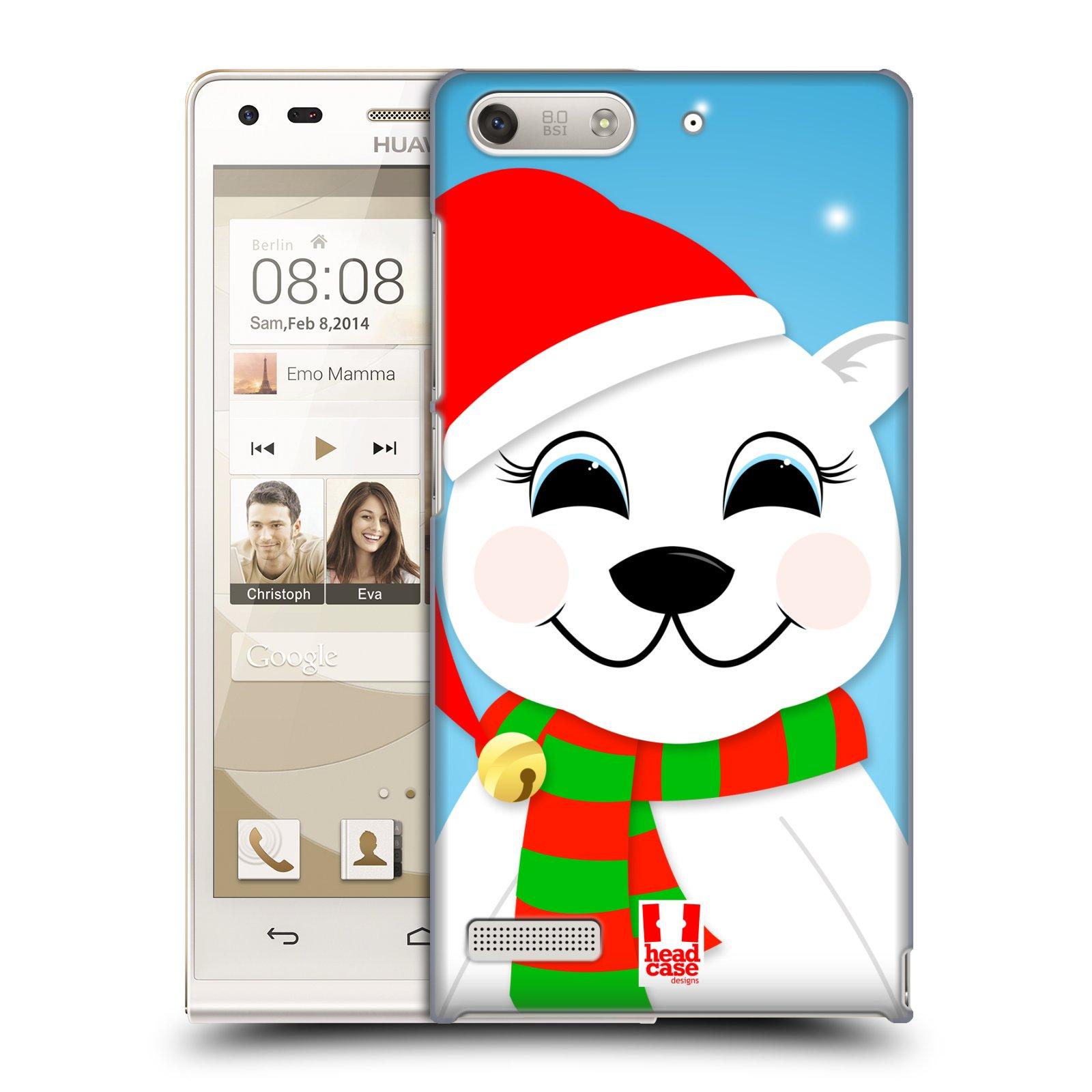 Plastové pouzdro na mobil Huawei Ascend G6 HEAD CASE VÁNOCE POLÁRNÍ MÉĎA (Kryt či obal na mobilní telefon Huawei Ascend G6 bez LTE)