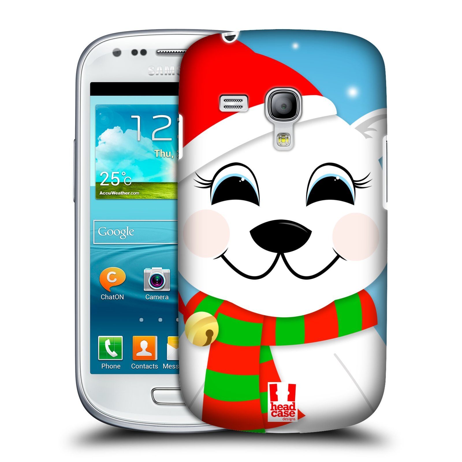 Plastové pouzdro na mobil Samsung Galaxy S III Mini HEAD CASE VÁNOCE POLÁRNÍ MÉĎA (Kryt či obal na mobilní telefon Samsung Galaxy S III Mini GT-i8190)
