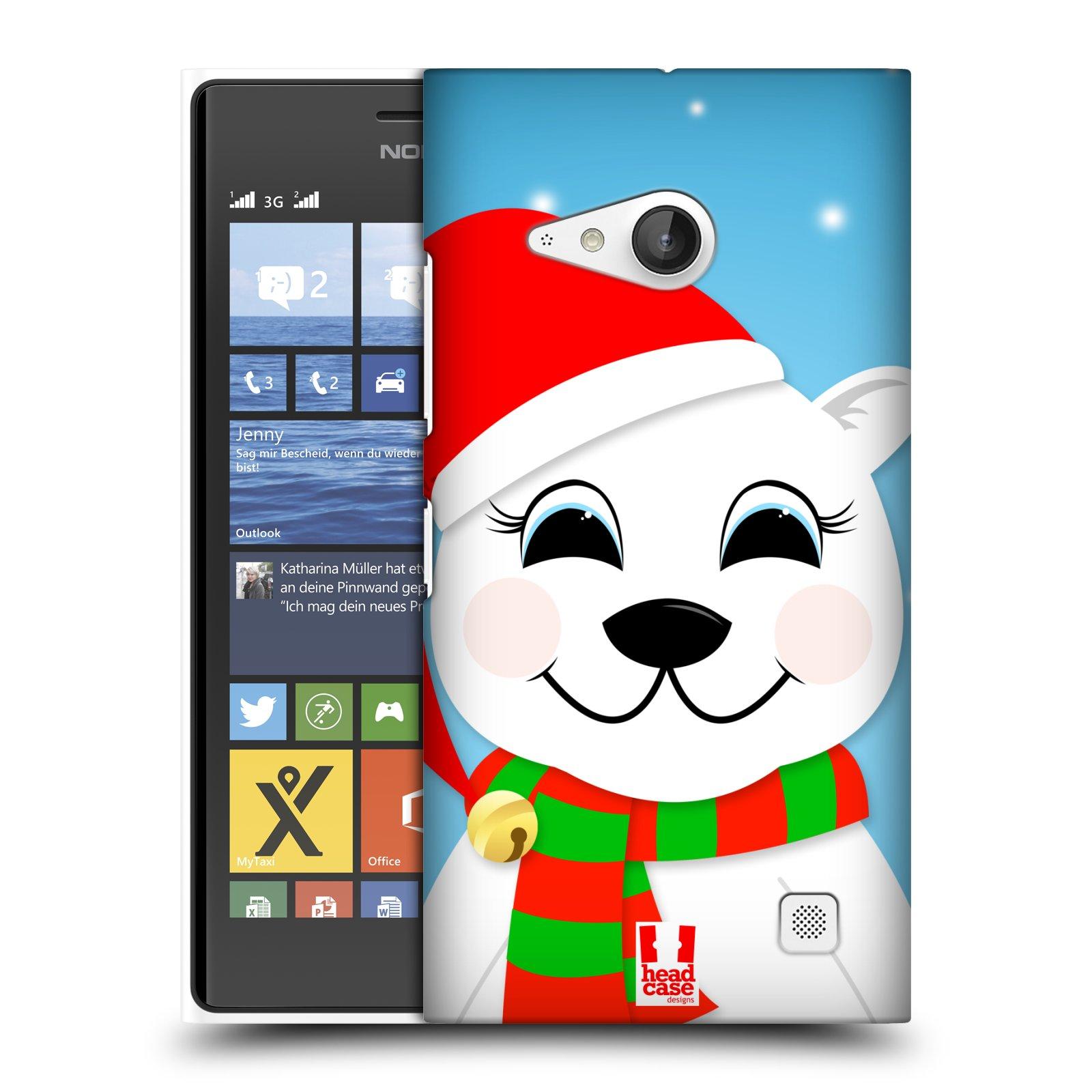 Plastové pouzdro na mobil Nokia Lumia 730 Dual SIM HEAD CASE VÁNOCE POLÁRNÍ MÉĎA (Kryt či obal na mobilní telefon Nokia Lumia 730 Dual SIM)