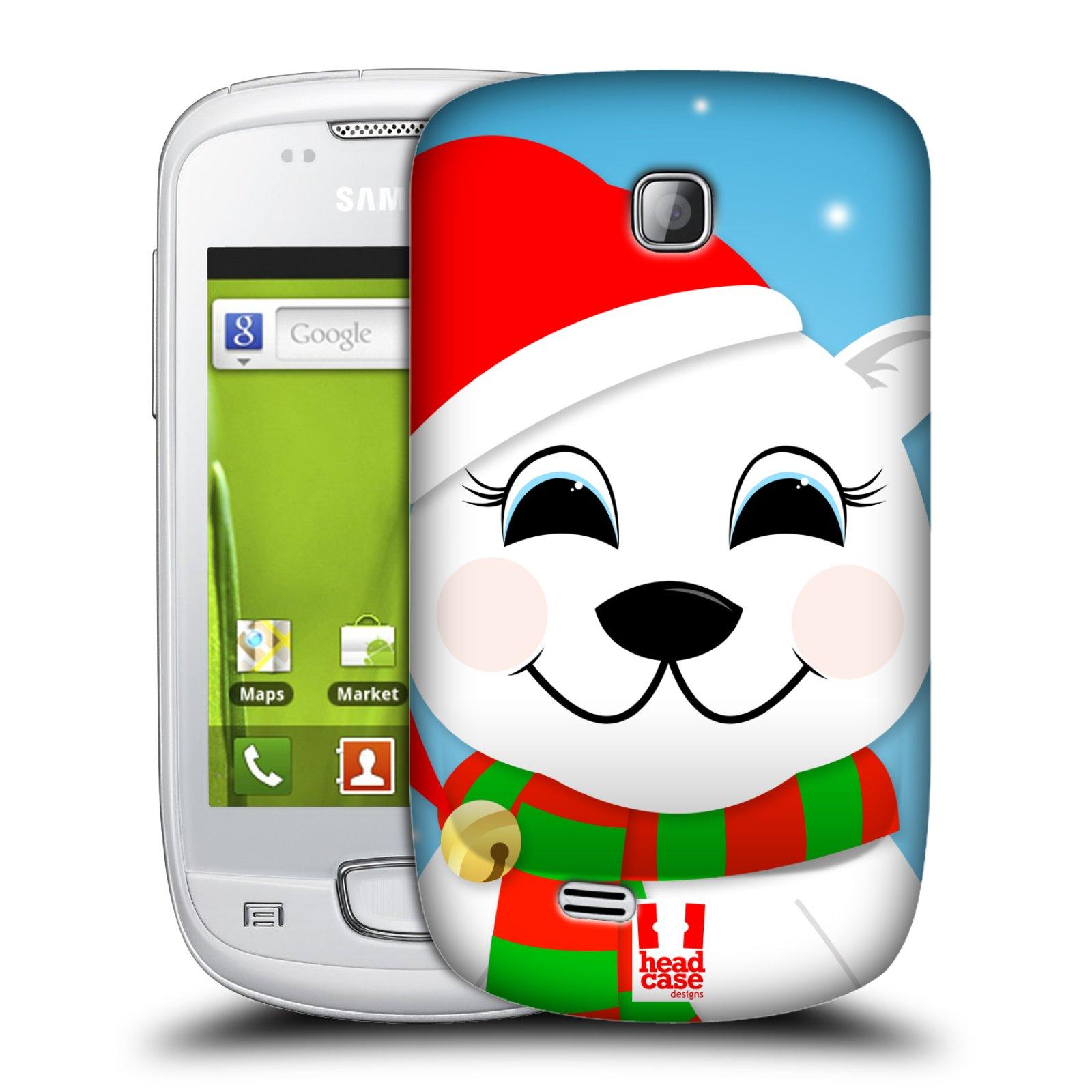 Plastové pouzdro na mobil Samsung Galaxy Mini HEAD CASE VÁNOCE POLÁRNÍ MÉĎA (Kryt či obal na mobilní telefon Samsung Galaxy Mini GT-S5570 / GT-S5570i)