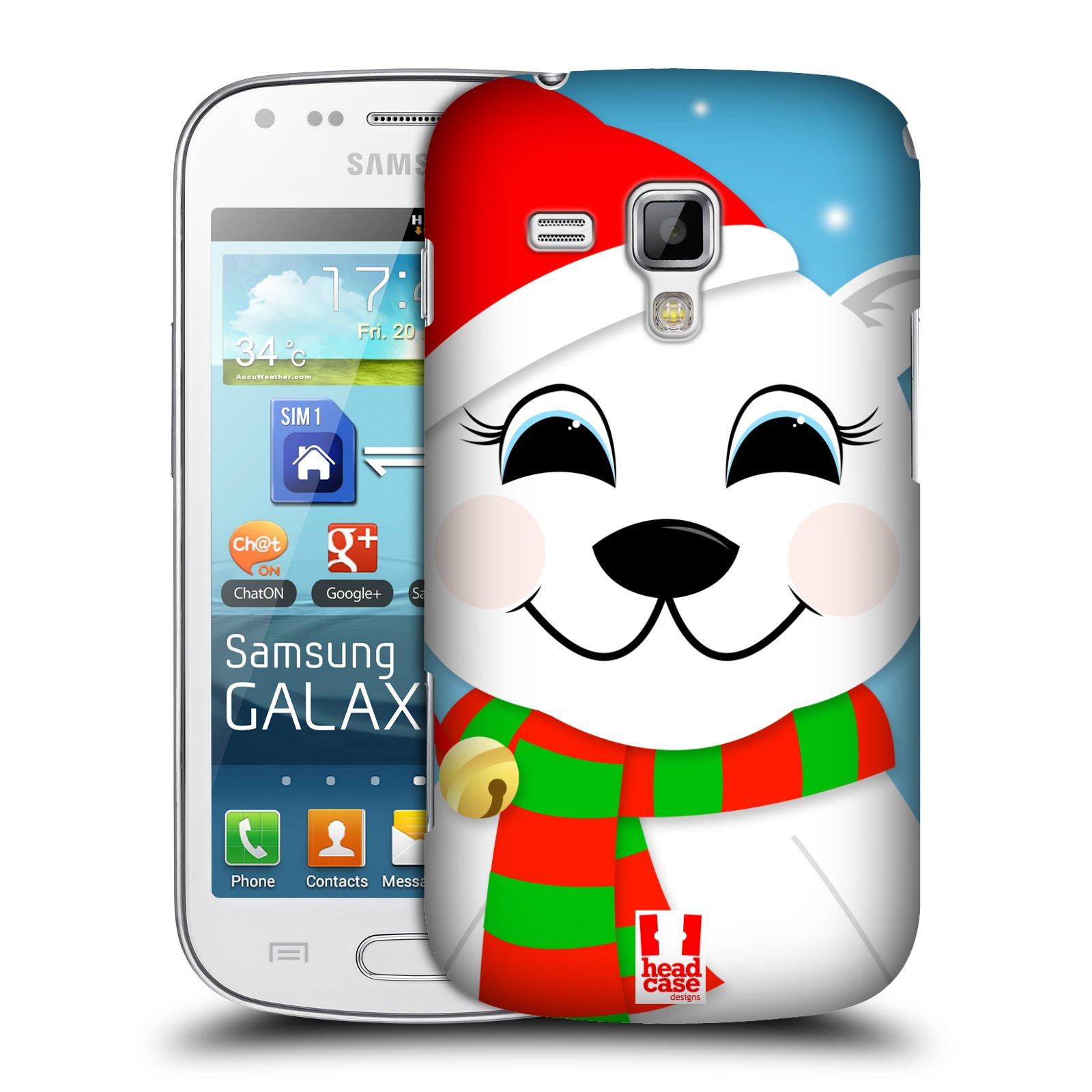 Plastové pouzdro na mobil Samsung Galaxy Trend Plus HEAD CASE VÁNOCE POLÁRNÍ MÉĎA (Kryt či obal na mobilní telefon Samsung Galaxy Trend Plus GT-S7580)