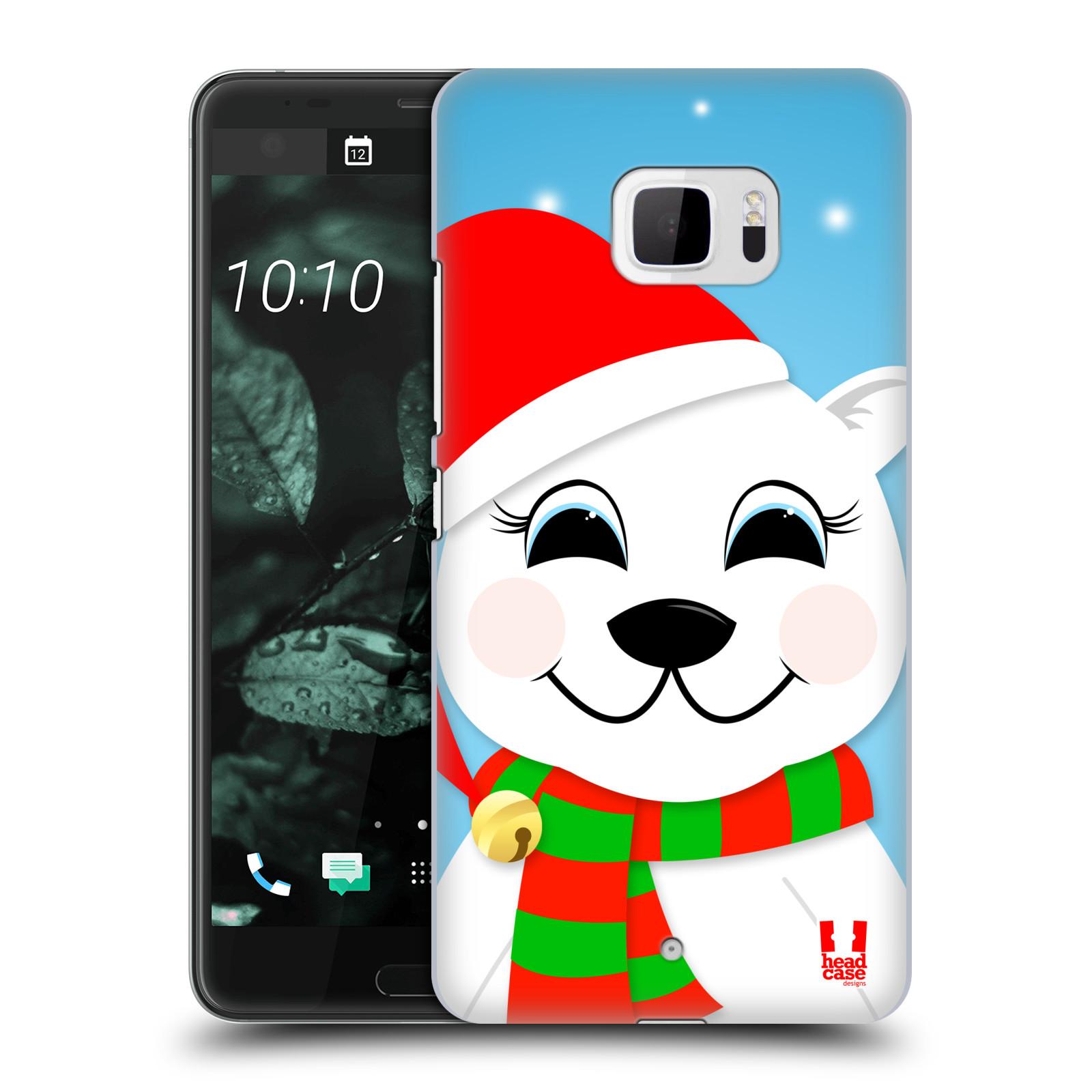 Plastové pouzdro na mobil HTC U Ultra Head Case - VÁNOCE POLÁRNÍ MÉĎA (Plastový kryt či obal na mobilní telefon HTC U Ultra (99HALT015-00))