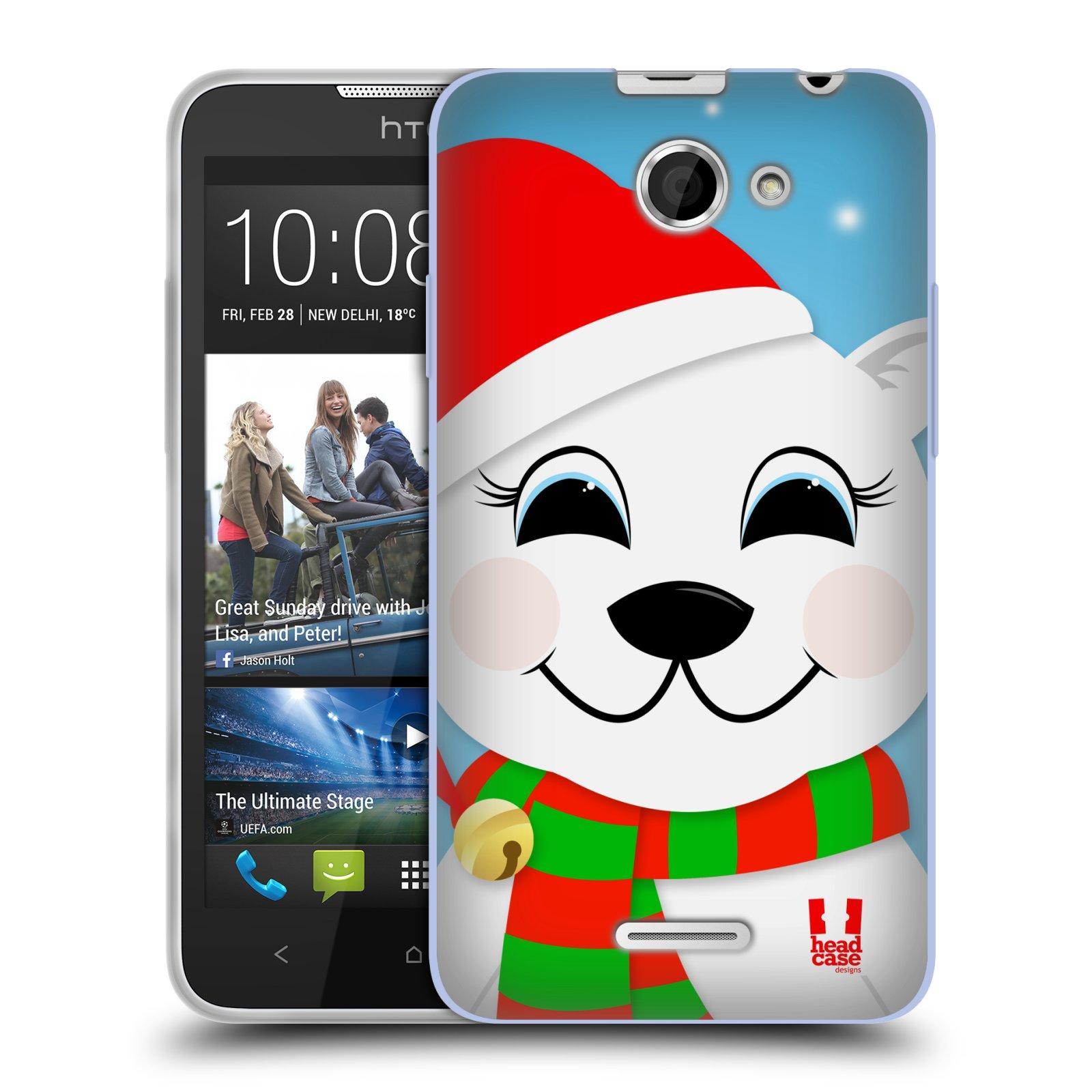 Silikonové pouzdro na mobil HTC Desire 516 HEAD CASE VÁNOCE POLÁRNÍ MÉĎA (Silikonový kryt či obal na mobilní telefon HTC Desire 516 Dual SIM)