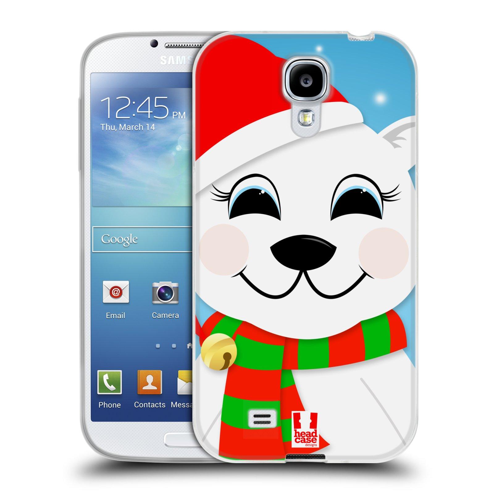 Silikonové pouzdro na mobil Samsung Galaxy S4 HEAD CASE VÁNOCE POLÁRNÍ MÉĎA (Silikonový kryt či obal na mobilní telefon Samsung Galaxy S4 GT-i9505 / i9500)