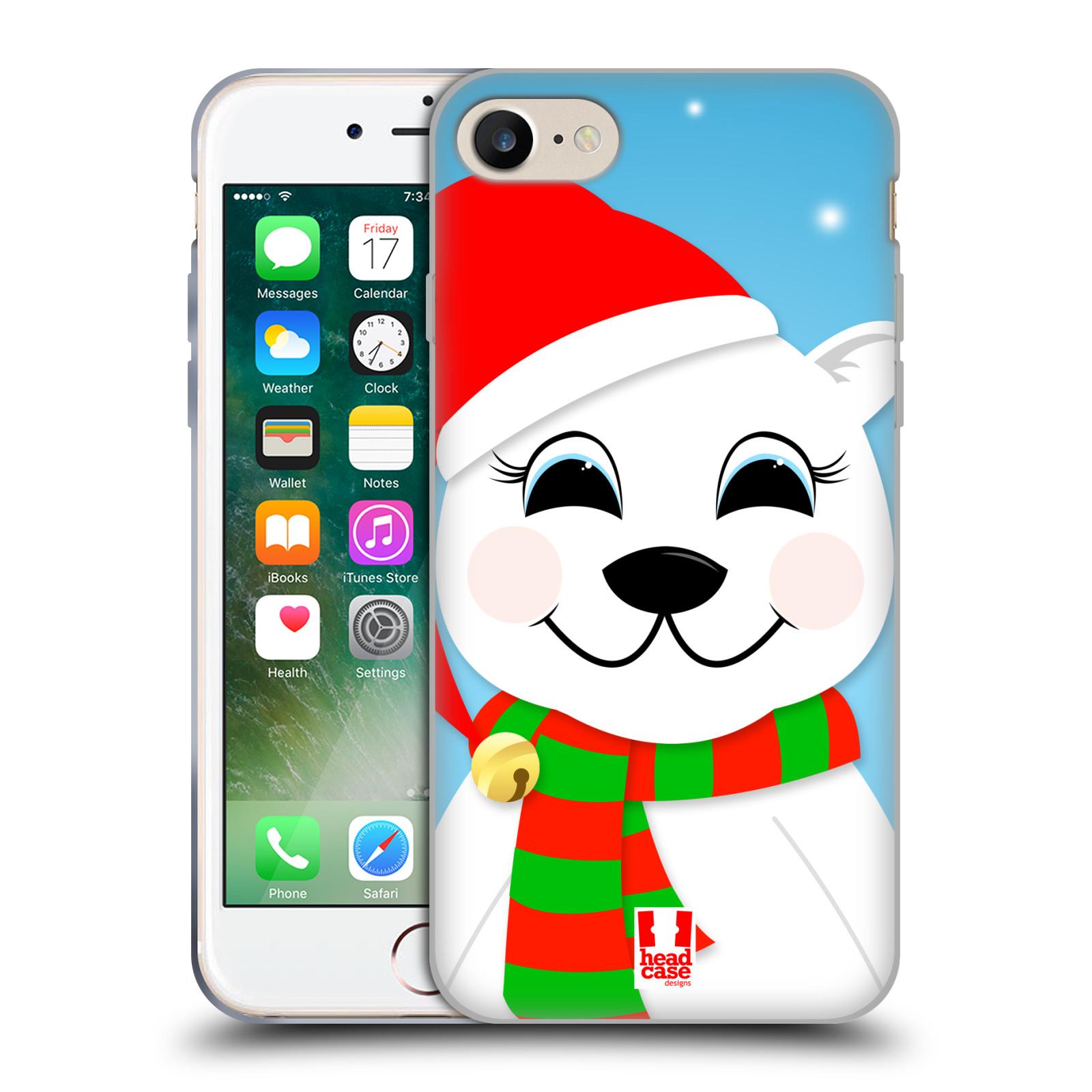 Silikonové pouzdro na mobil Apple iPhone 8 - Head Case - VÁNOCE POLÁRNÍ MÉĎA (Silikonový kryt či obal na mobilní telefon Apple iPhone 8 s motivem VÁNOCE POLÁRNÍ MÉĎA)