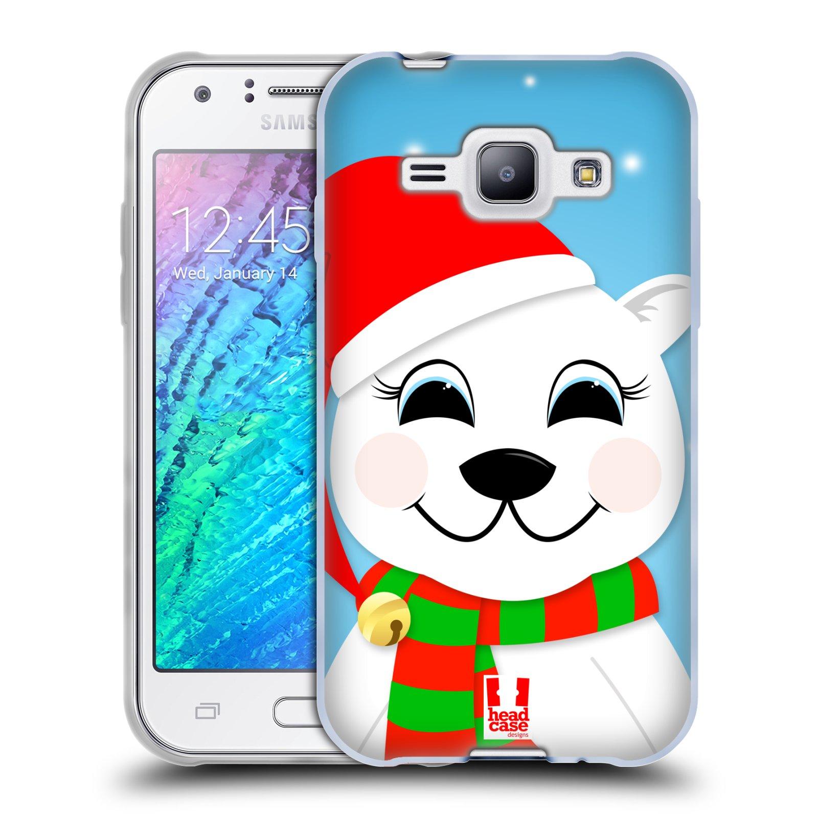 Silikonové pouzdro na mobil Samsung Galaxy J1 HEAD CASE VÁNOCE POLÁRNÍ MÉĎA (Silikonový kryt či obal na mobilní telefon Samsung Galaxy J1 a J1 Duos)