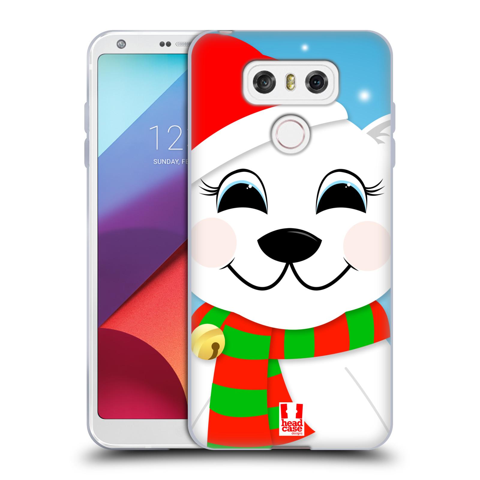 Silikonové pouzdro na mobil LG G6 - Head Case VÁNOCE POLÁRNÍ MÉĎA (Silikonový kryt či obal na mobilní telefon LG G6 H870 / LG G6 Dual SIM H870DS)