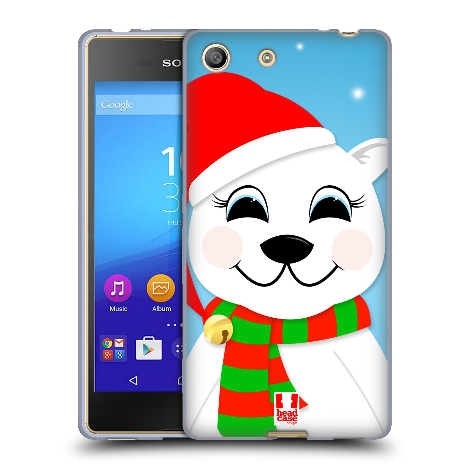 Silikonové pouzdro na mobil Sony Xperia M5 HEAD CASE VÁNOCE POLÁRNÍ MÉĎA (Silikonový kryt či obal na mobilní telefon Sony Xperia M5 Dual SIM / Aqua)