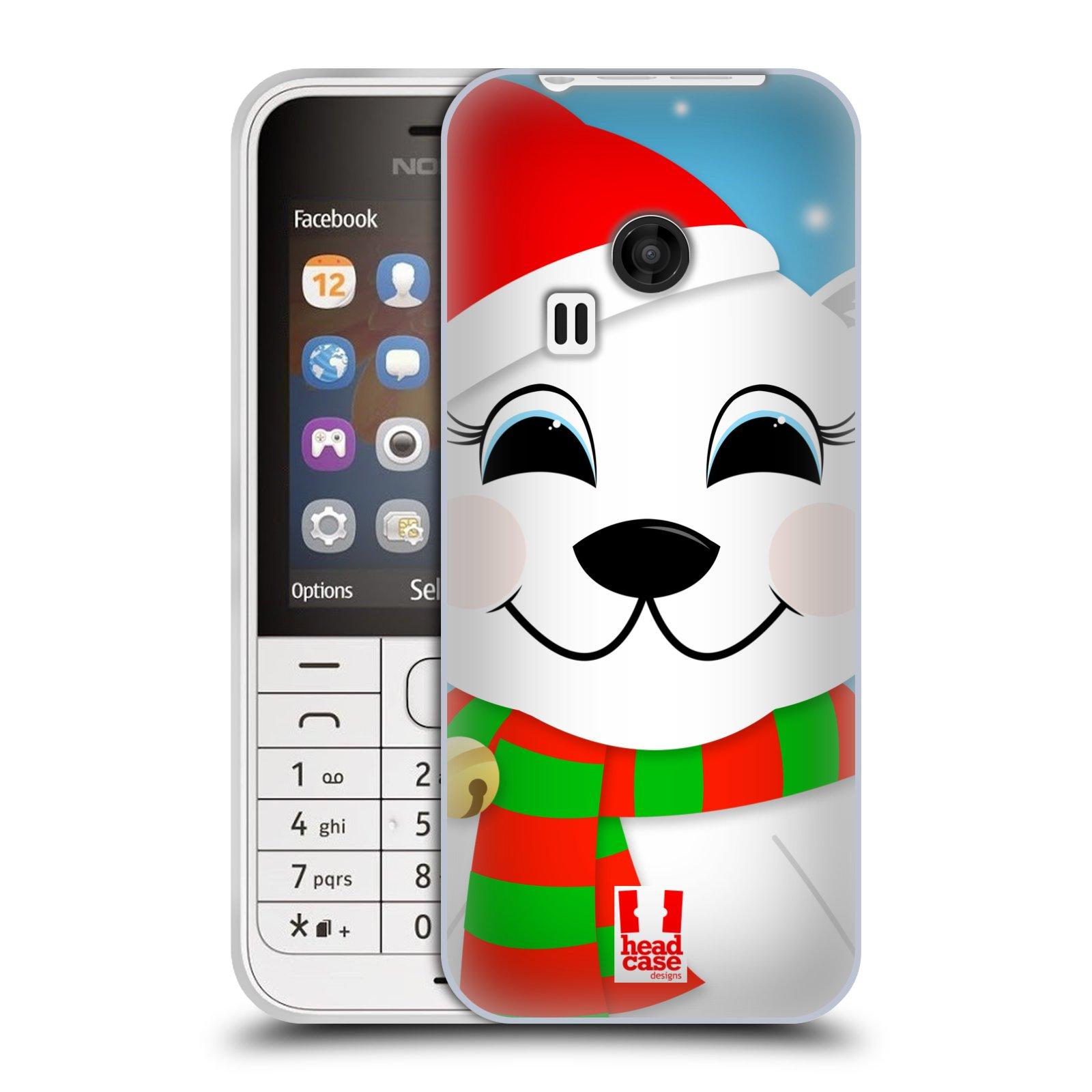 Silikonové pouzdro na mobil Nokia 220 HEAD CASE VÁNOCE POLÁRNÍ MÉĎA (Silikonový kryt či obal na mobilní telefon Nokia 220 a 220 Dual SIM)