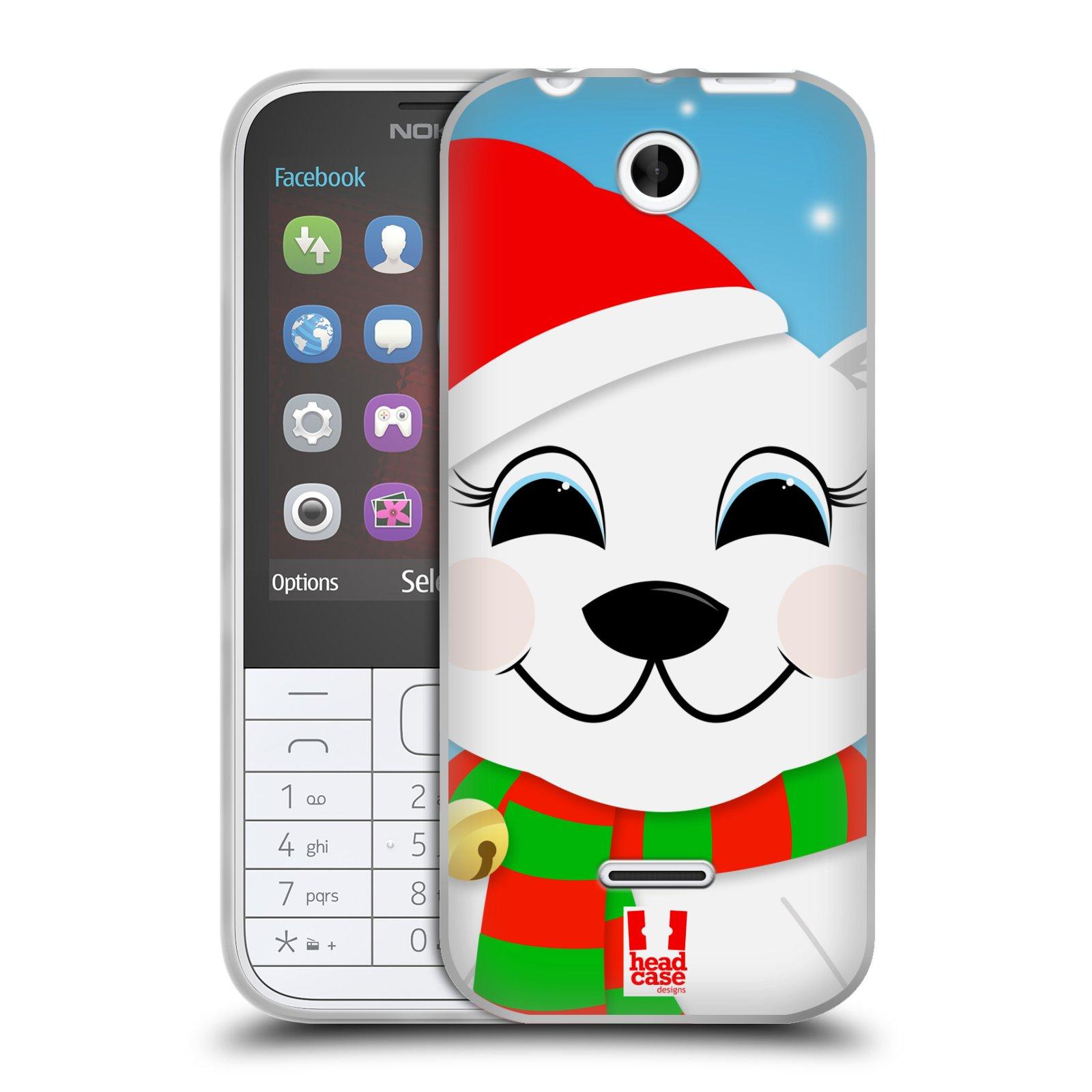 Silikonové pouzdro na mobil Nokia 225 HEAD CASE VÁNOCE POLÁRNÍ MÉĎA (Silikonový kryt či obal na mobilní telefon Nokia 225)