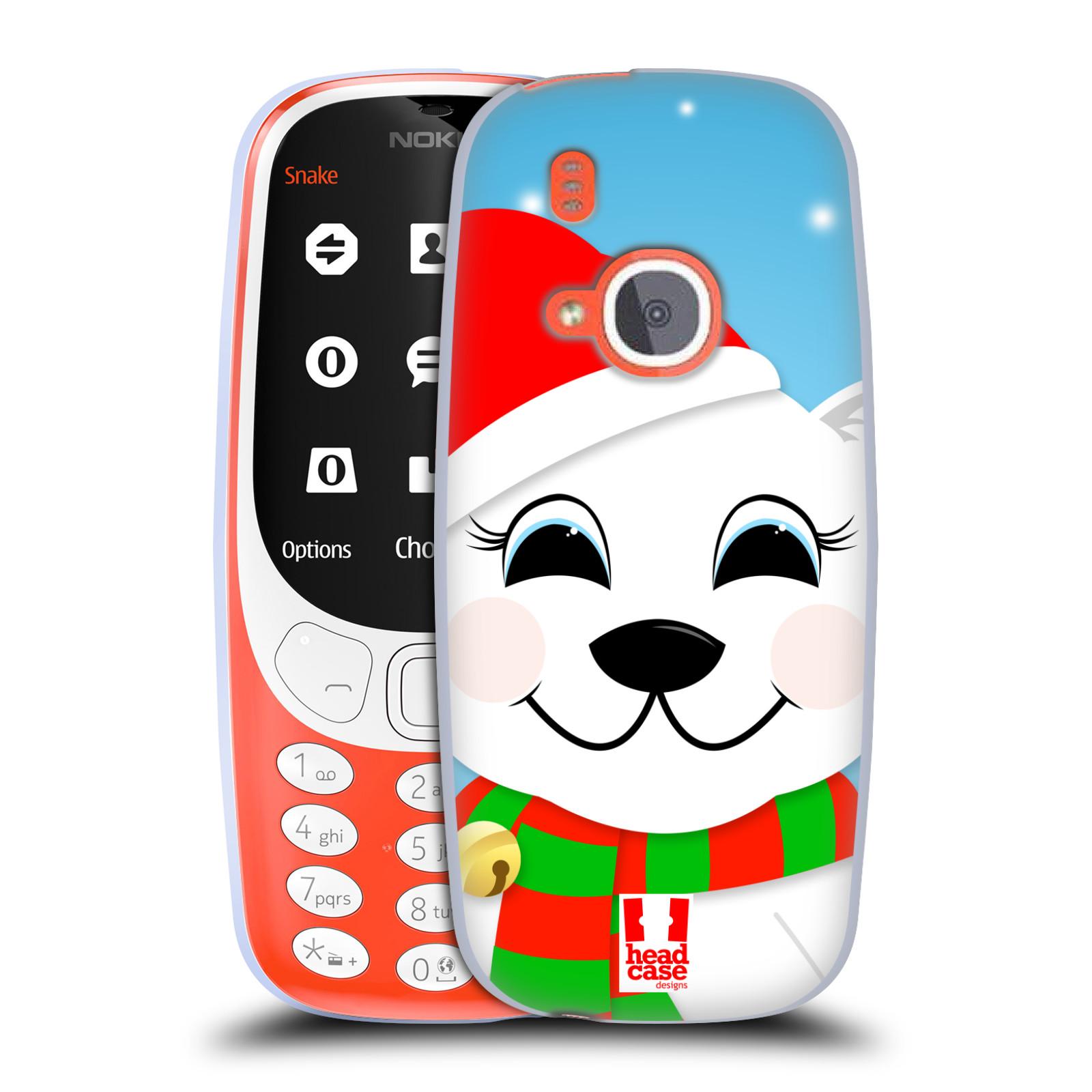 Silikonové pouzdro na mobil Nokia 3310 - Head Case - VÁNOCE POLÁRNÍ MÉĎA (Silikonový kryt či obal na mobilní telefon Nokia 3310 (2017) s motivem VÁNOCE POLÁRNÍ MÉĎA)