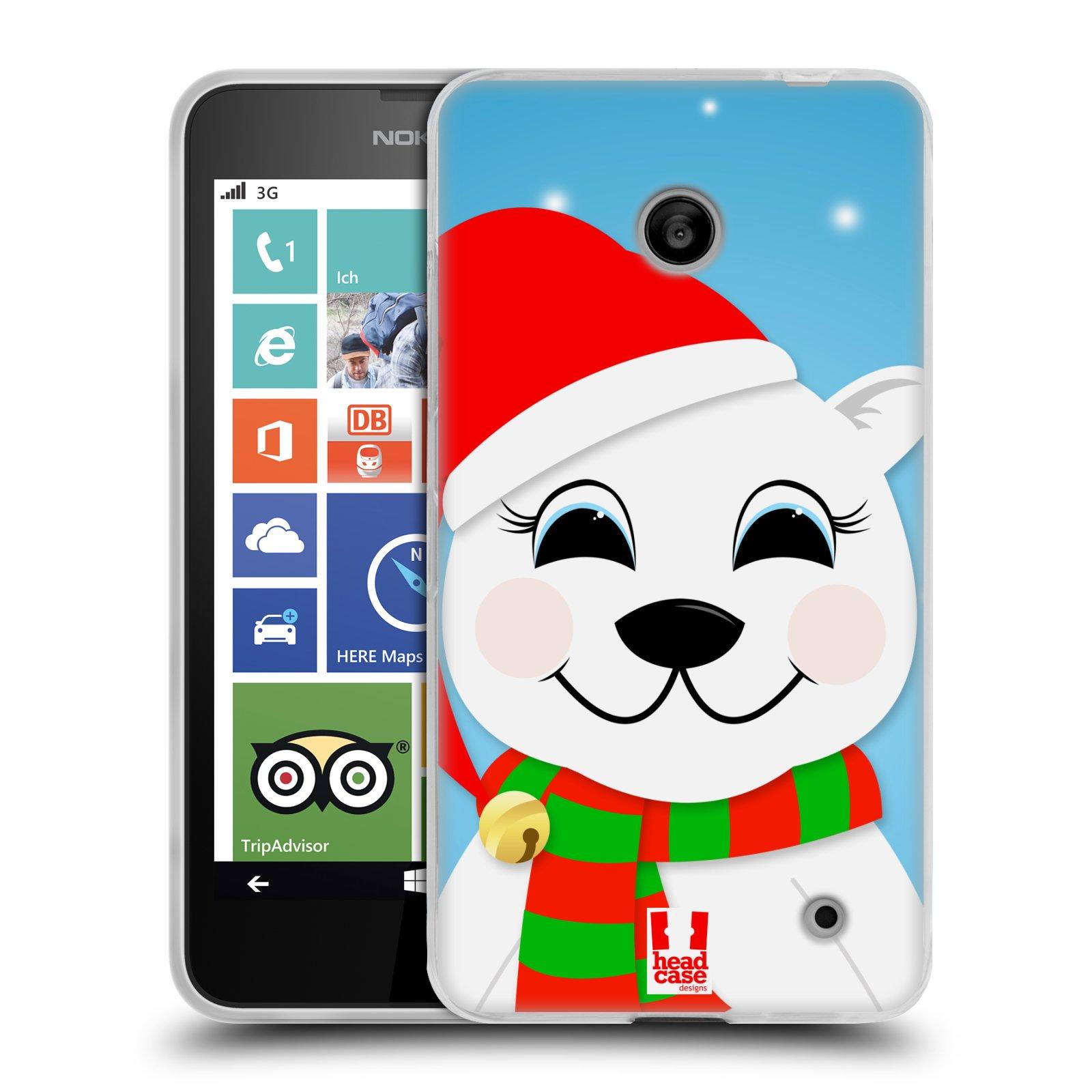Silikonové pouzdro na mobil Nokia Lumia 630 HEAD CASE VÁNOCE POLÁRNÍ MÉĎA (Silikonový kryt či obal na mobilní telefon Nokia Lumia 630 a Nokia Lumia 630 Dual SIM)
