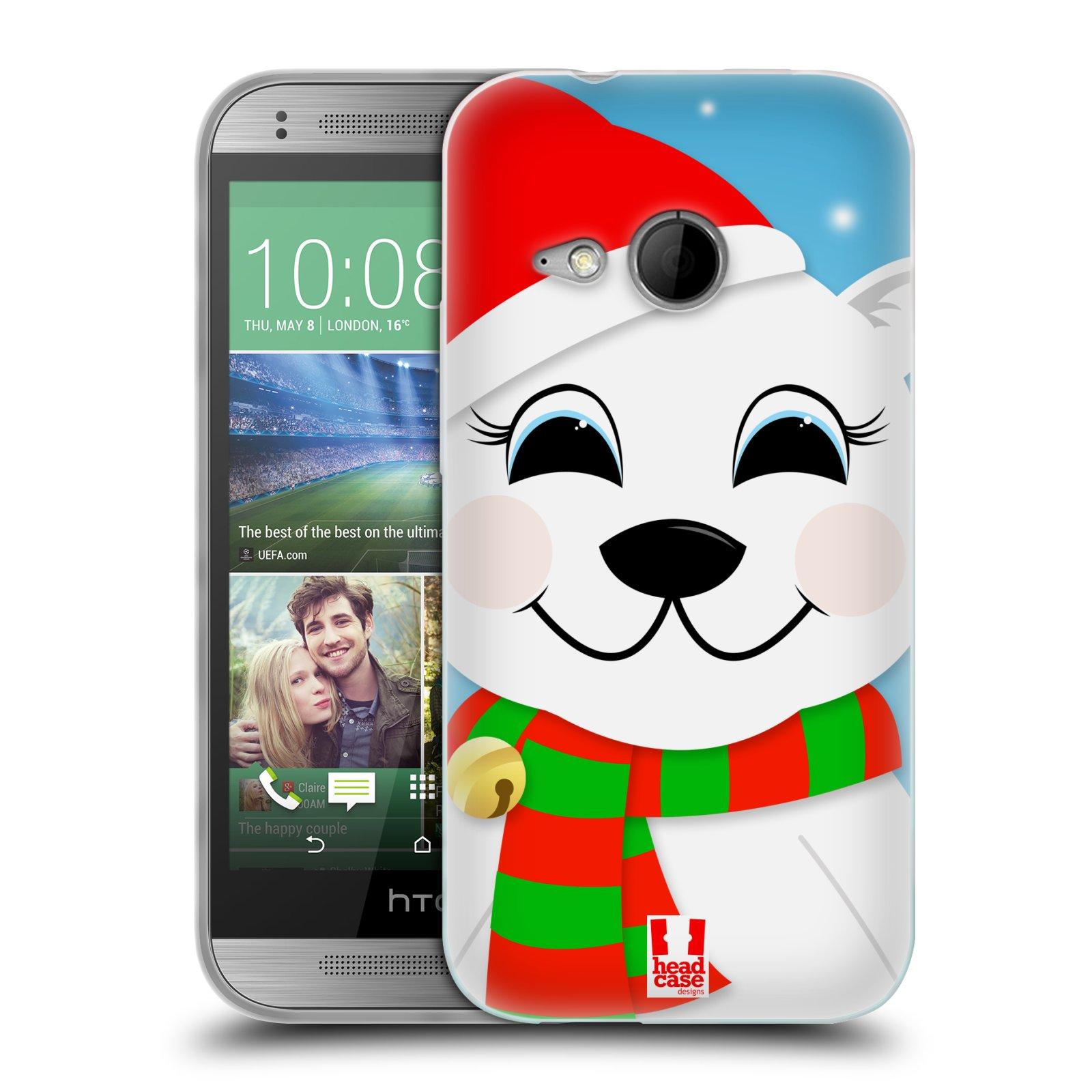 Silikonové pouzdro na mobil HTC ONE Mini 2 HEAD CASE VÁNOCE POLÁRNÍ MÉĎA (Silikonový kryt či obal na mobilní telefon HTC ONE Mini 2)