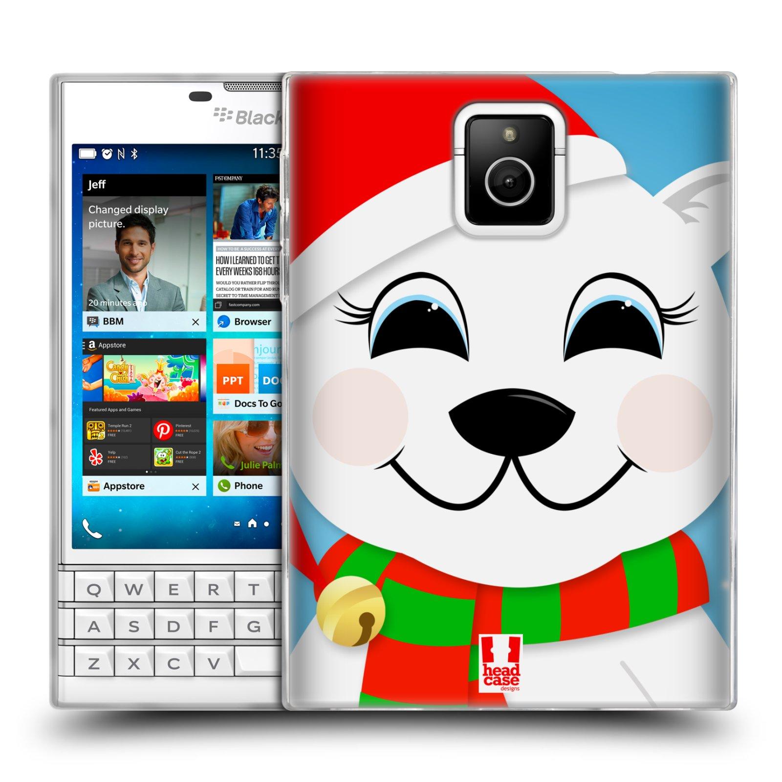 Silikonové pouzdro na mobil Blackberry PASSPORT HEAD CASE VÁNOCE POLÁRNÍ MÉĎA (Silikonový kryt či obal na mobilní telefon Blackberry PASSPORT)