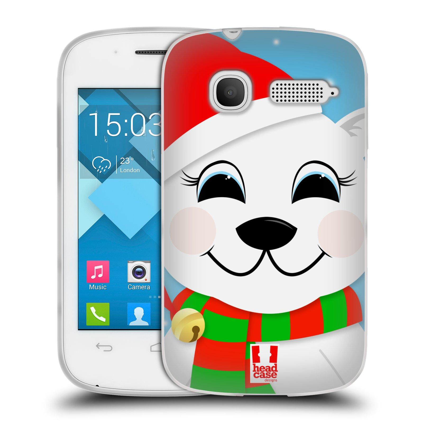Silikonové pouzdro na mobil Alcatel One Touch Pop C1 HEAD CASE VÁNOCE POLÁRNÍ MÉĎA (Silikonový kryt či obal na mobilní telefon Alcatel OT-4015D POP C1)