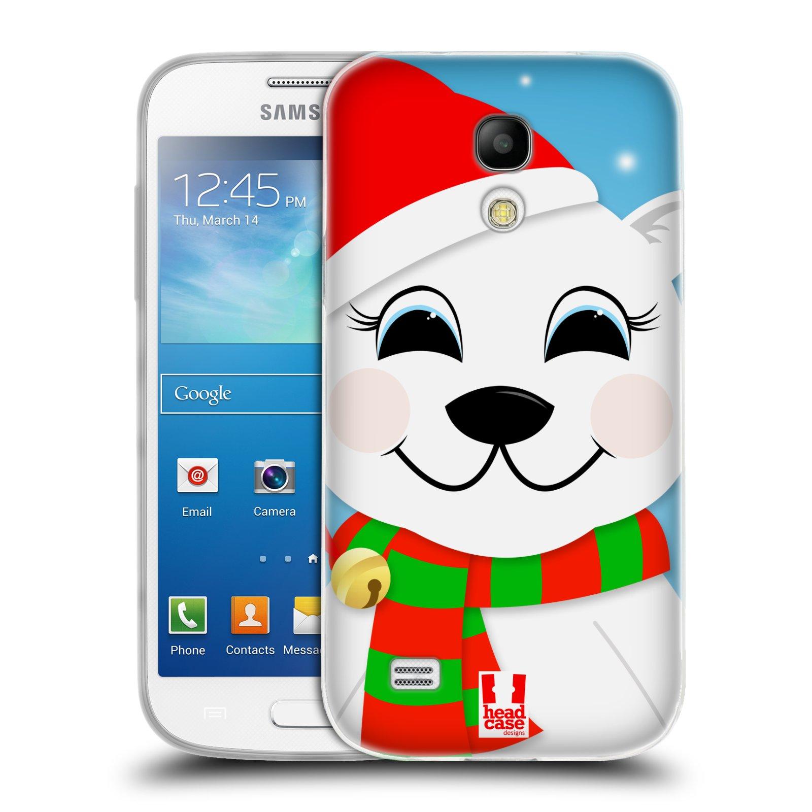 Silikonové pouzdro na mobil Samsung Galaxy S4 Mini HEAD CASE VÁNOCE POLÁRNÍ MÉĎA (Silikonový kryt či obal na mobilní telefon Samsung Galaxy S4 Mini GT-i9195 / i9190 (nepasuje na verzi Black Edition))