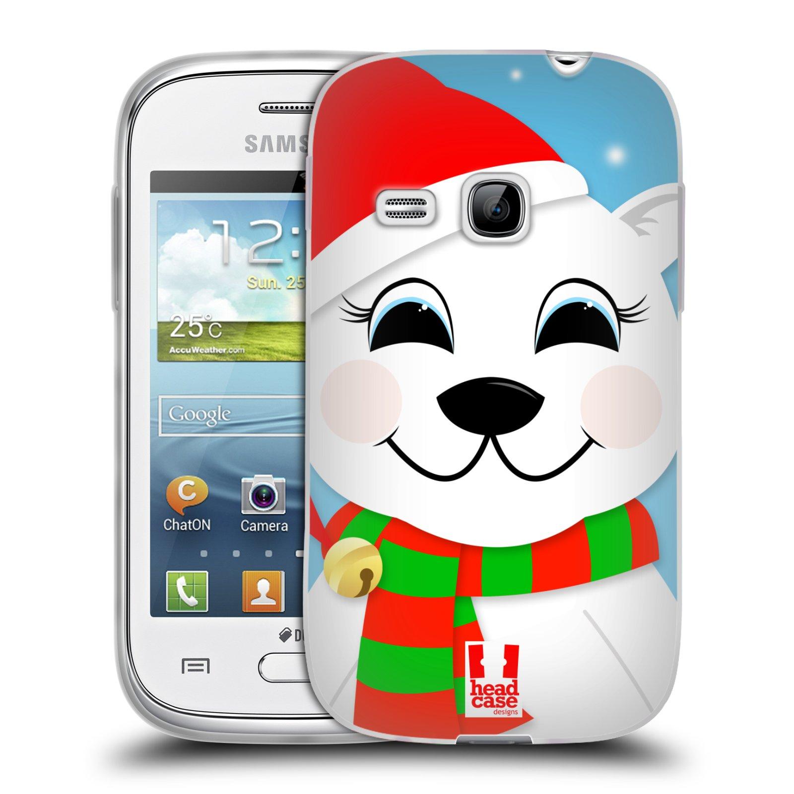 Silikonové pouzdro na mobil Samsung Galaxy Young HEAD CASE VÁNOCE POLÁRNÍ MÉĎA (Silikonový kryt či obal na mobilní telefon Samsung Galaxy Young GT-S6310)
