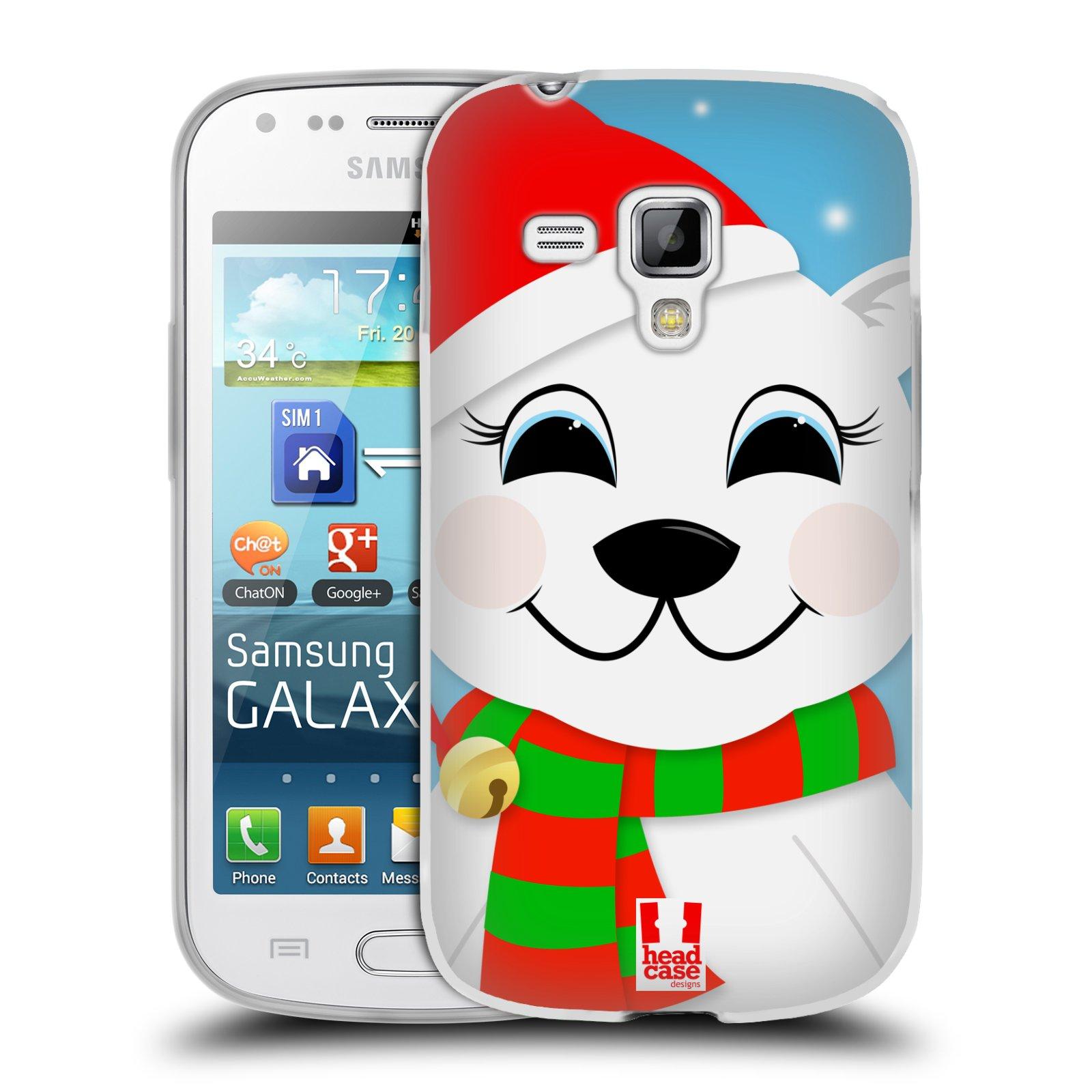 Silikonové pouzdro na mobil Samsung Galaxy Trend Plus HEAD CASE VÁNOCE POLÁRNÍ MÉĎA (Silikonový kryt či obal na mobilní telefon Samsung Galaxy Trend Plus GT-S7580)