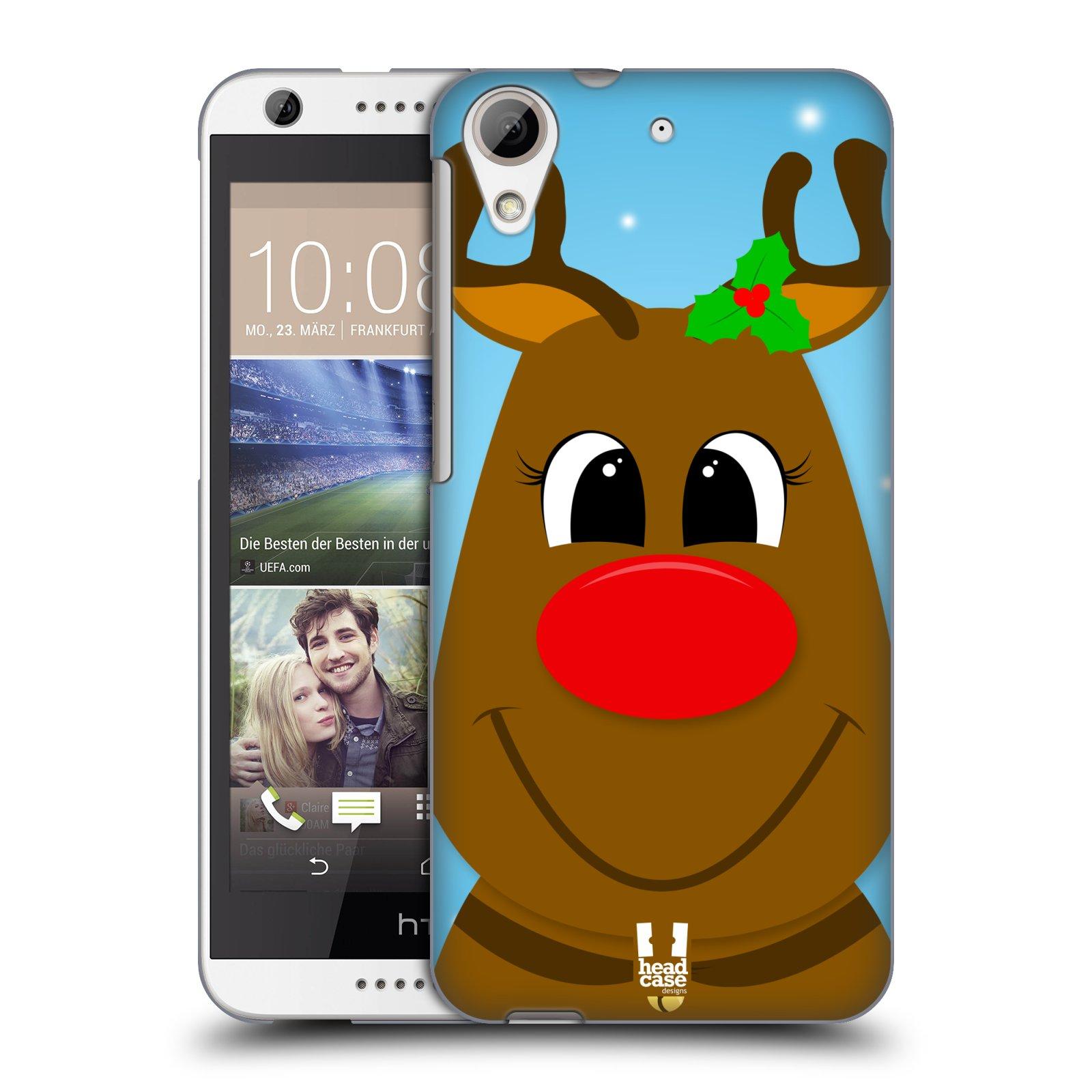 Plastové pouzdro na mobil HTC Desire 626 / 626G HEAD CASE VÁNOCE RUDOLF SOB (Kryt či obal na mobilní telefon HTC Desire 626G Dual SIM a HTC Desire 626)