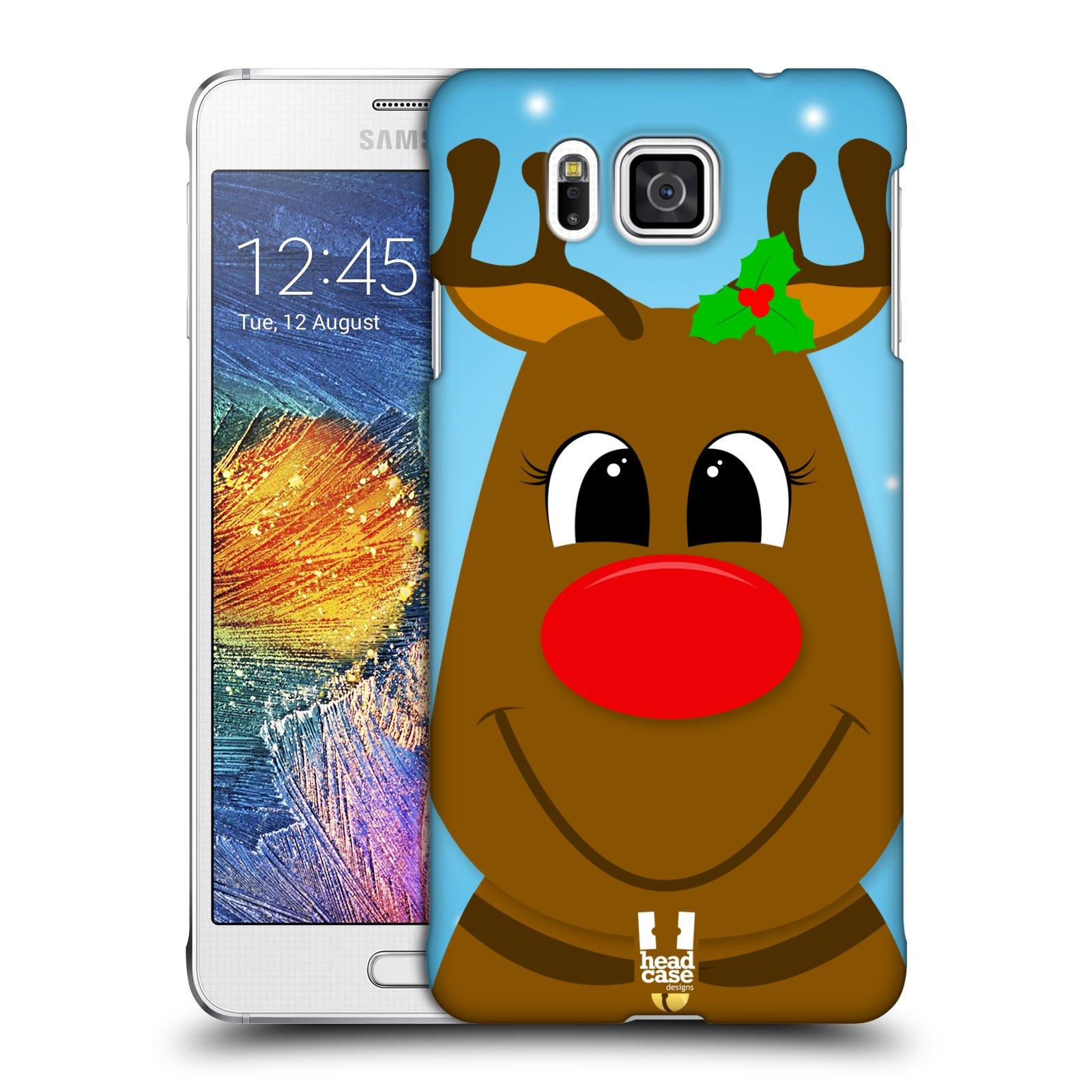 Plastové pouzdro na mobil Samsung Galaxy Alpha HEAD CASE VÁNOCE RUDOLF SOB (Kryt či obal na mobilní telefon Samsung Galaxy Alpha SM-G850)