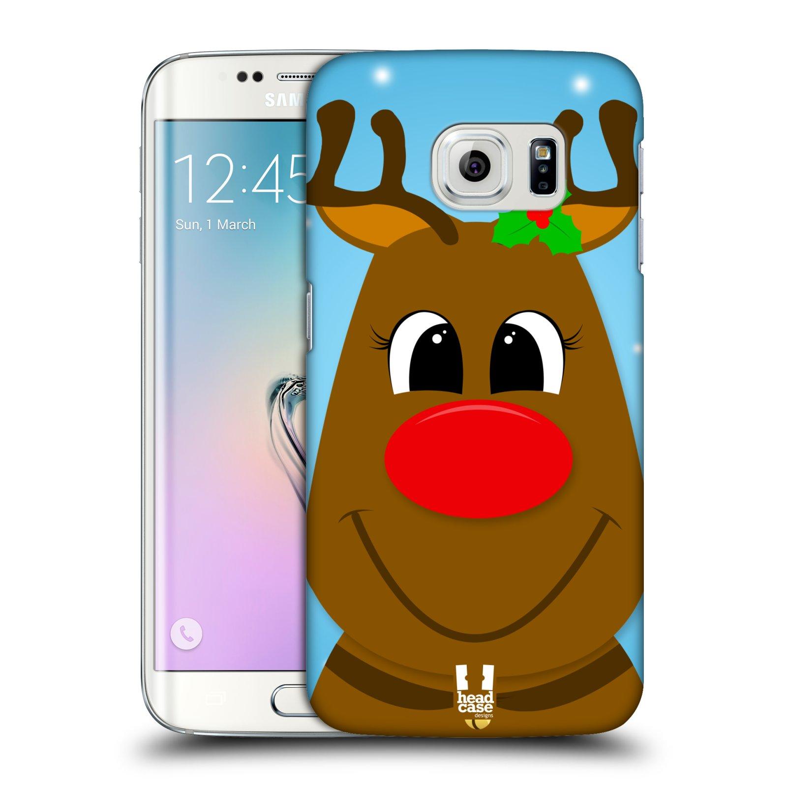 Plastové pouzdro na mobil Samsung Galaxy S6 Edge HEAD CASE VÁNOCE RUDOLF SOB (Kryt či obal na mobilní telefon Samsung Galaxy S6 Edge SM-G925F)